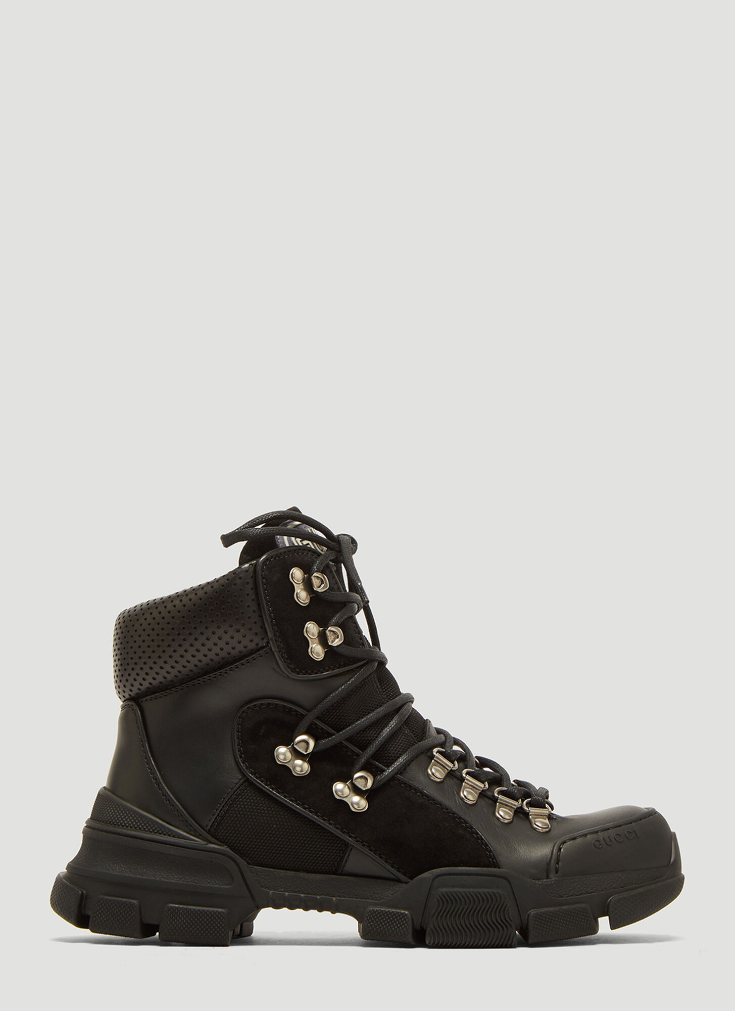 Photo of Gucci Flashtrek High-top Sneakers in Black - Gucci Sneakers