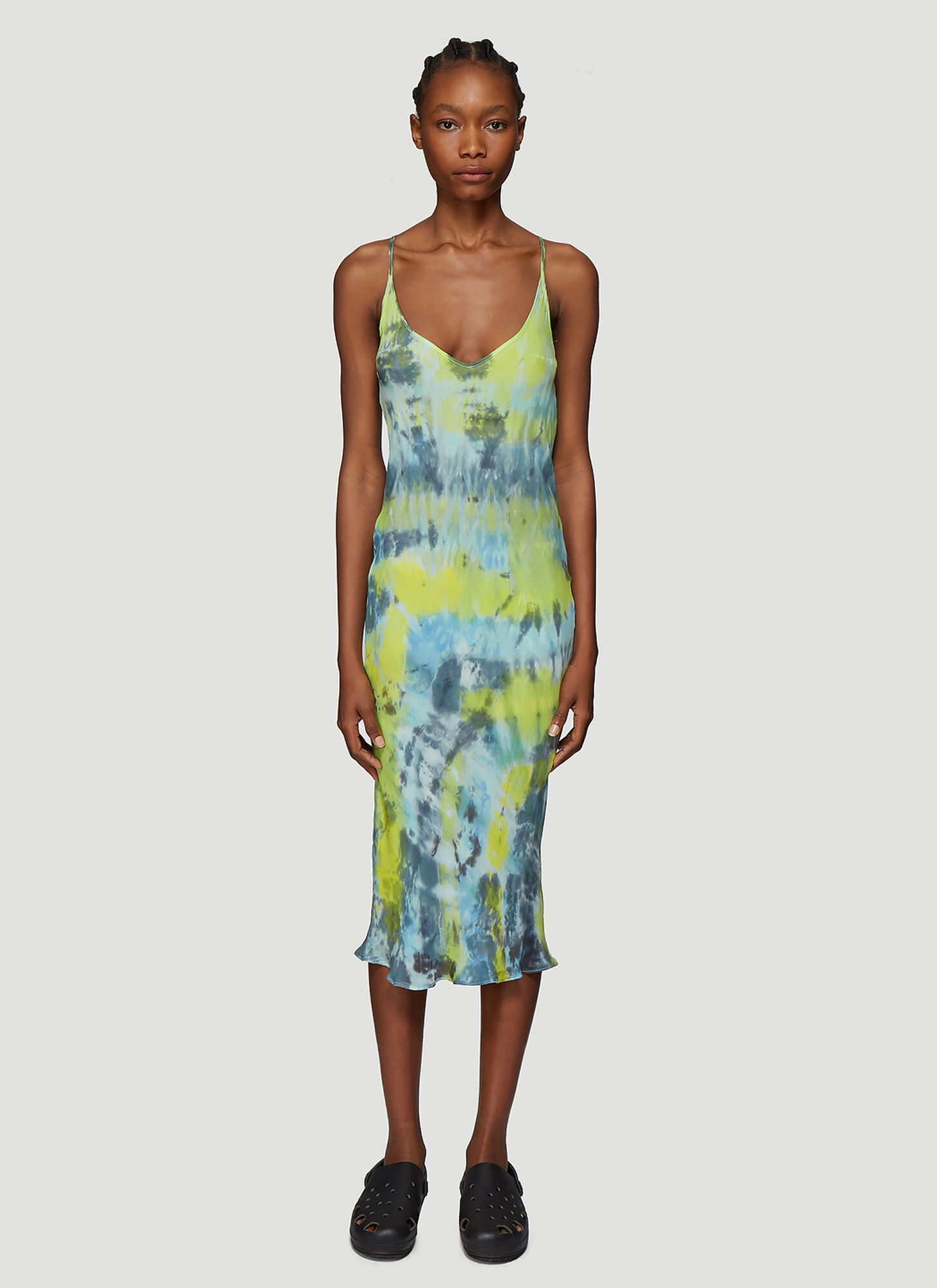 Collina Strada Tie Dye Barbarella Dress in Green