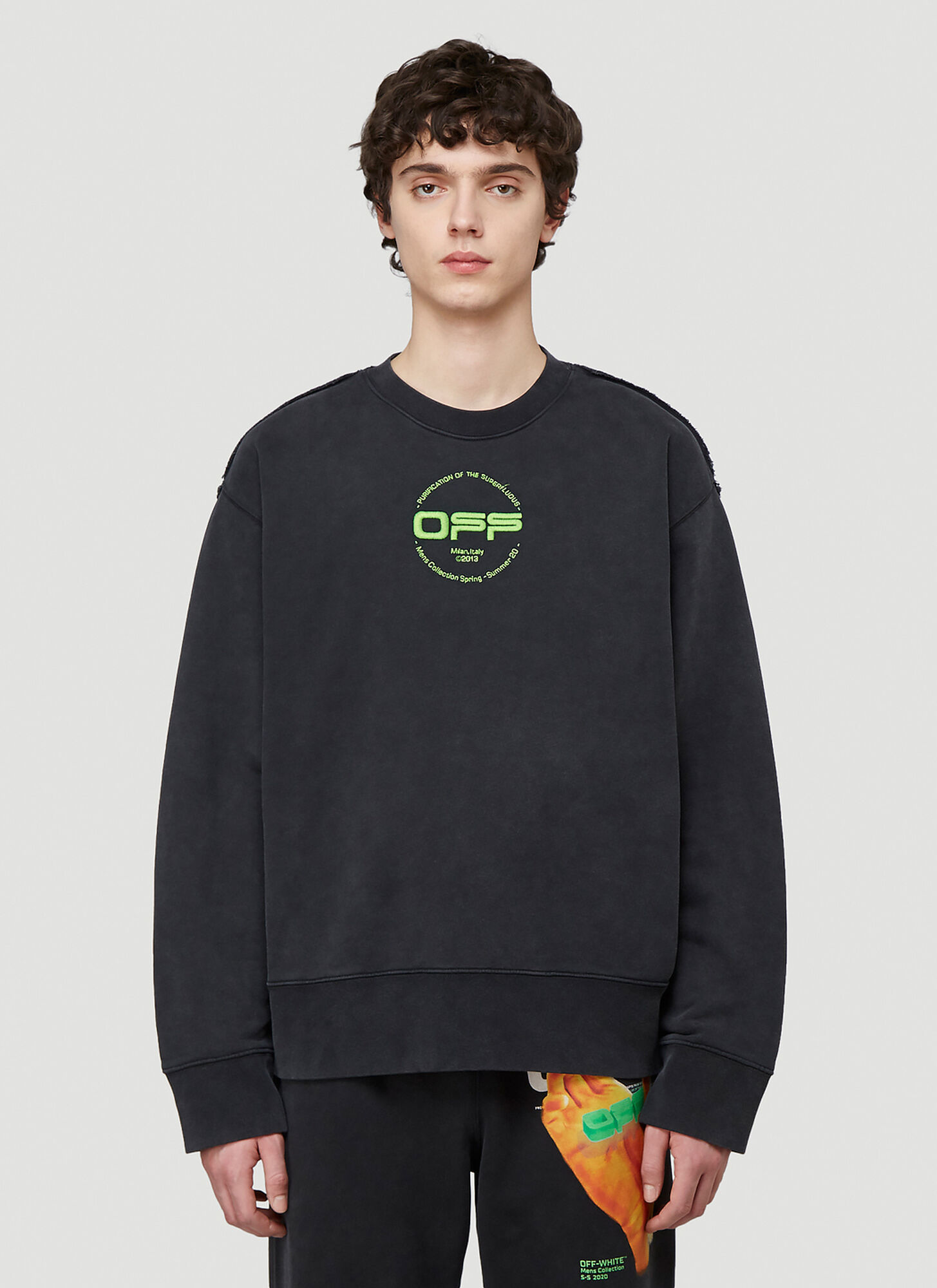 Off-White Printed Logo Sweatshirt in Black size XXL
