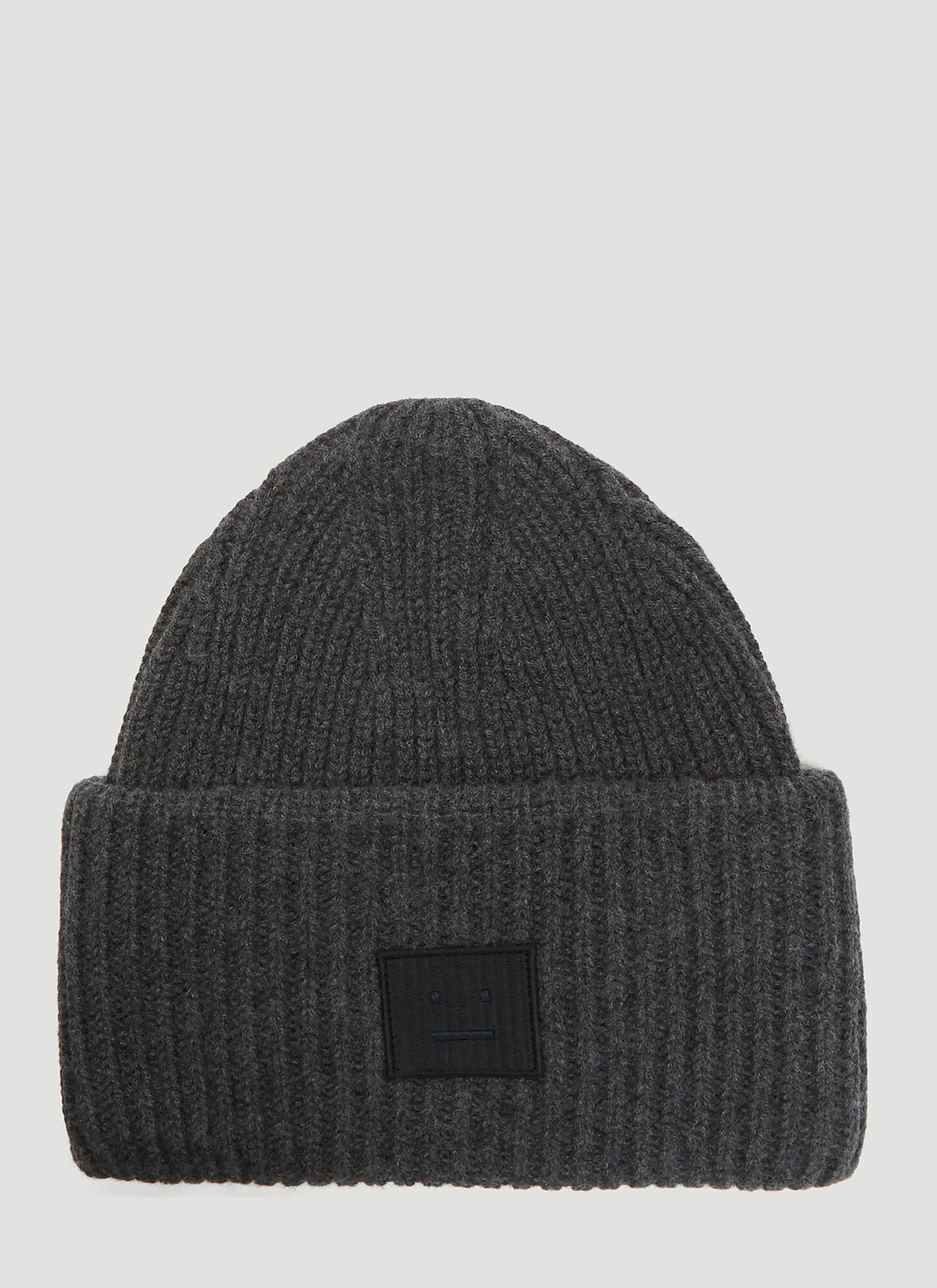 Acne Studios Pansy N Face Knit Hat in Grey