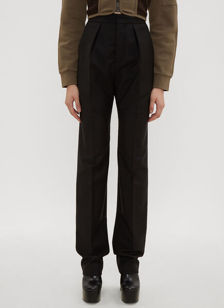 Atlein High Waist Pleated Tailored Pants in Black