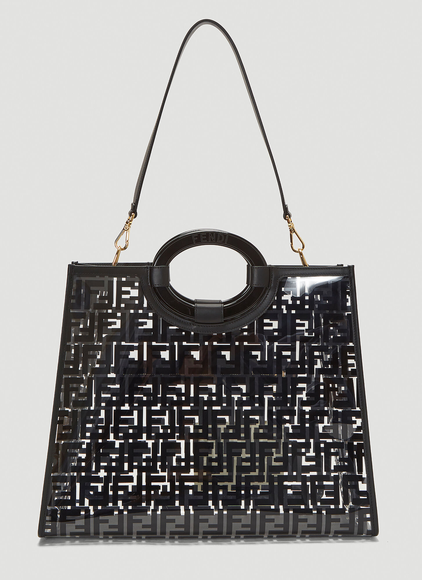 Fendi Runaway Shopper Tote Bag in Black