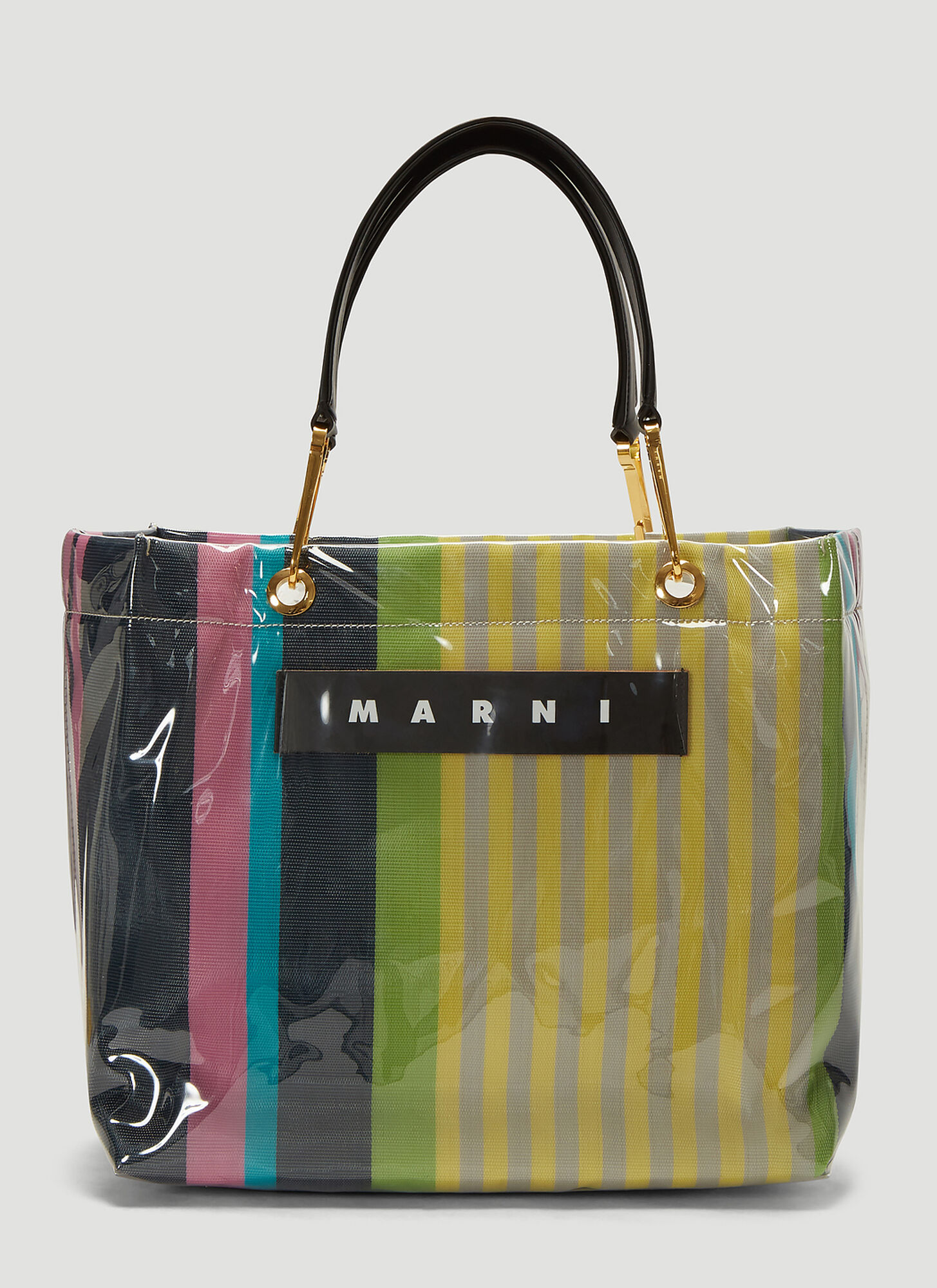 Marni Glossy Grip Medium Tote Bag in Yellow
