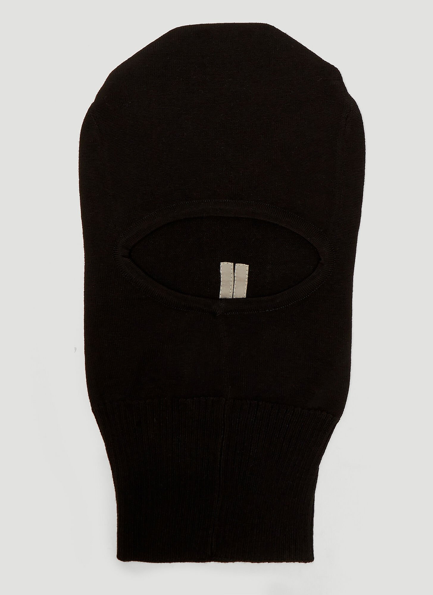 Rick Owens Knitted Balaclava in Black