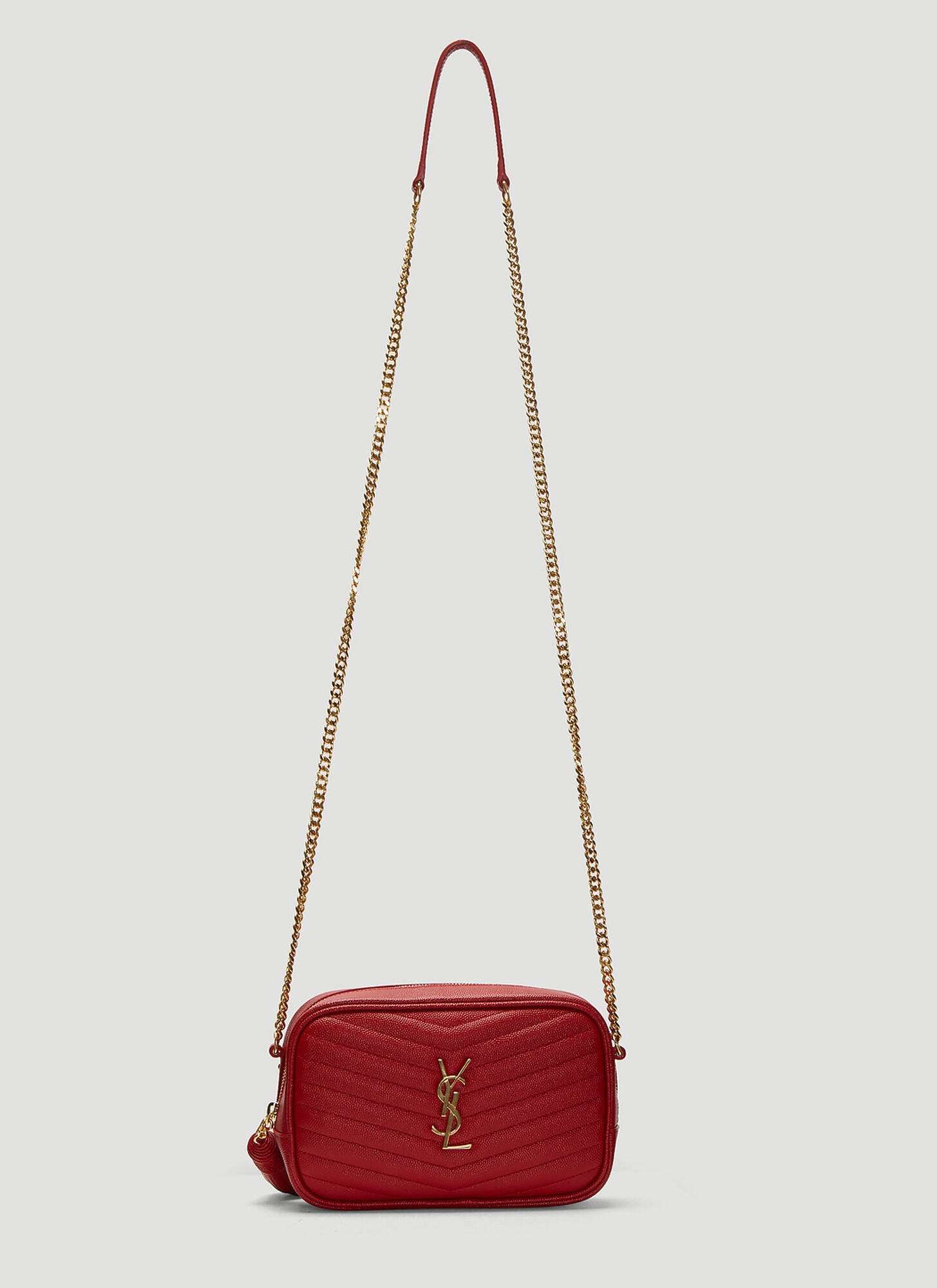 Saint Laurent Mono Bag in Red