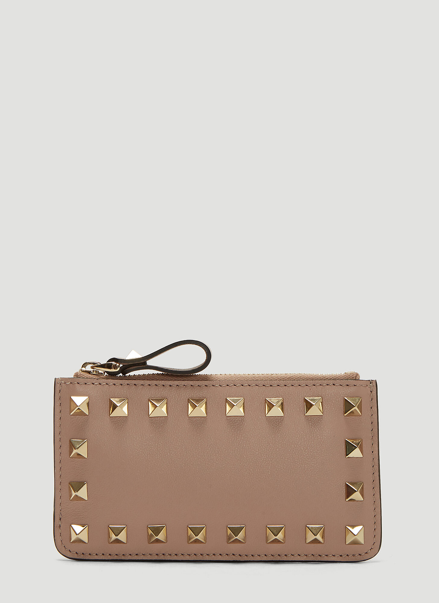 Valentino Rockstud Coin Purse in Pink
