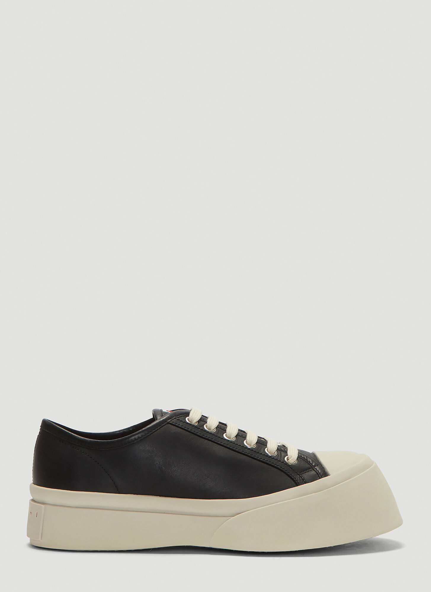 Marni Leather Sneakers in Black
