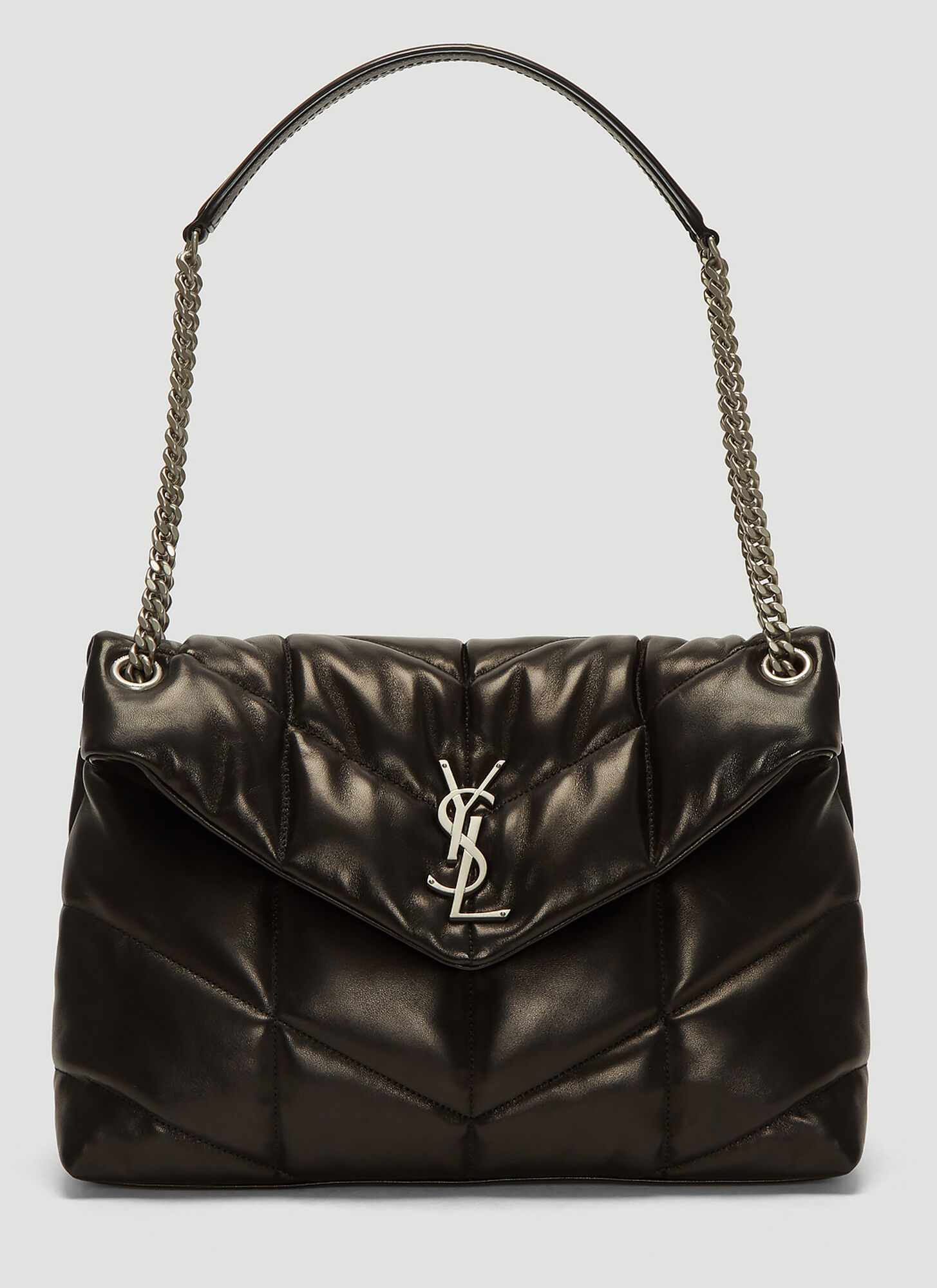 Saint Laurent Quilted Lou Lou Bag in Black
