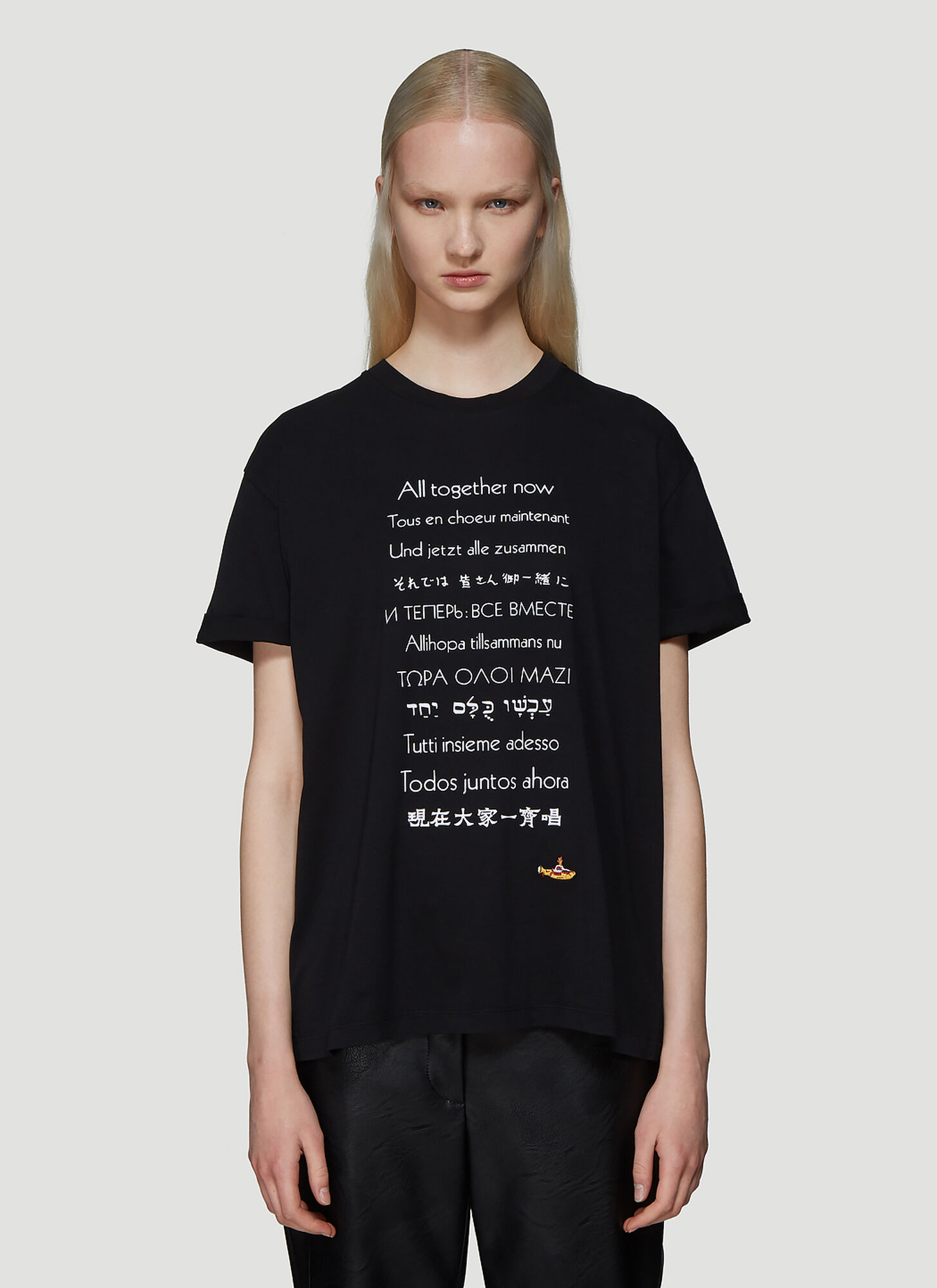 Stella McCartney The Beatles All Together Now T-Shirt in Black