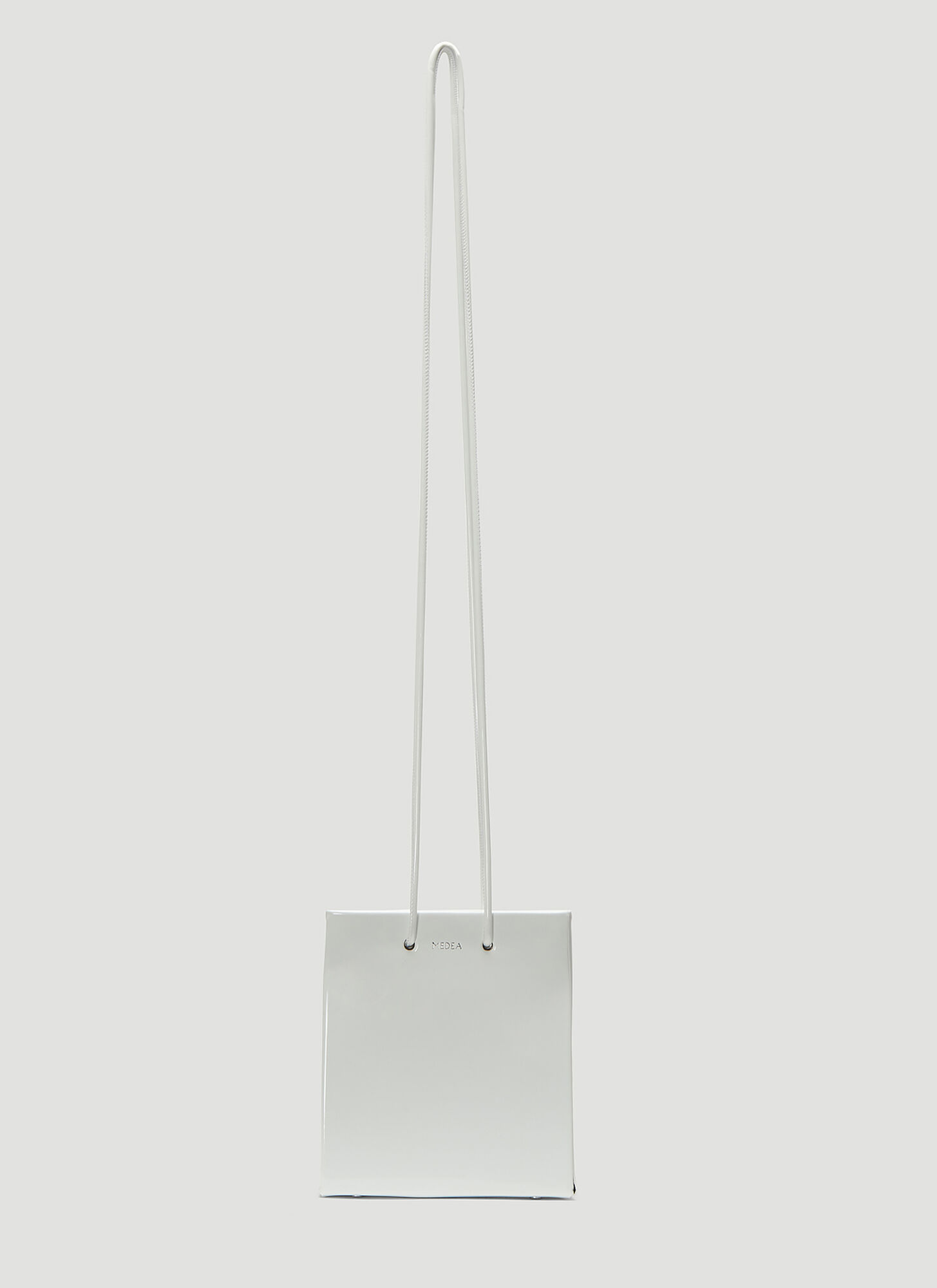 Medea Vinile Short Long Strap Bag in White