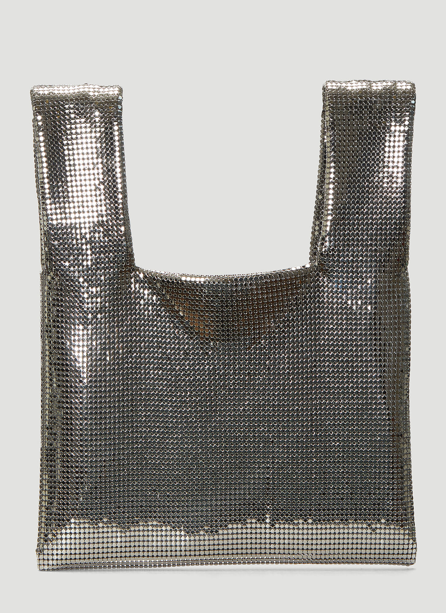 Kara Metal Mesh Shopper in Silver