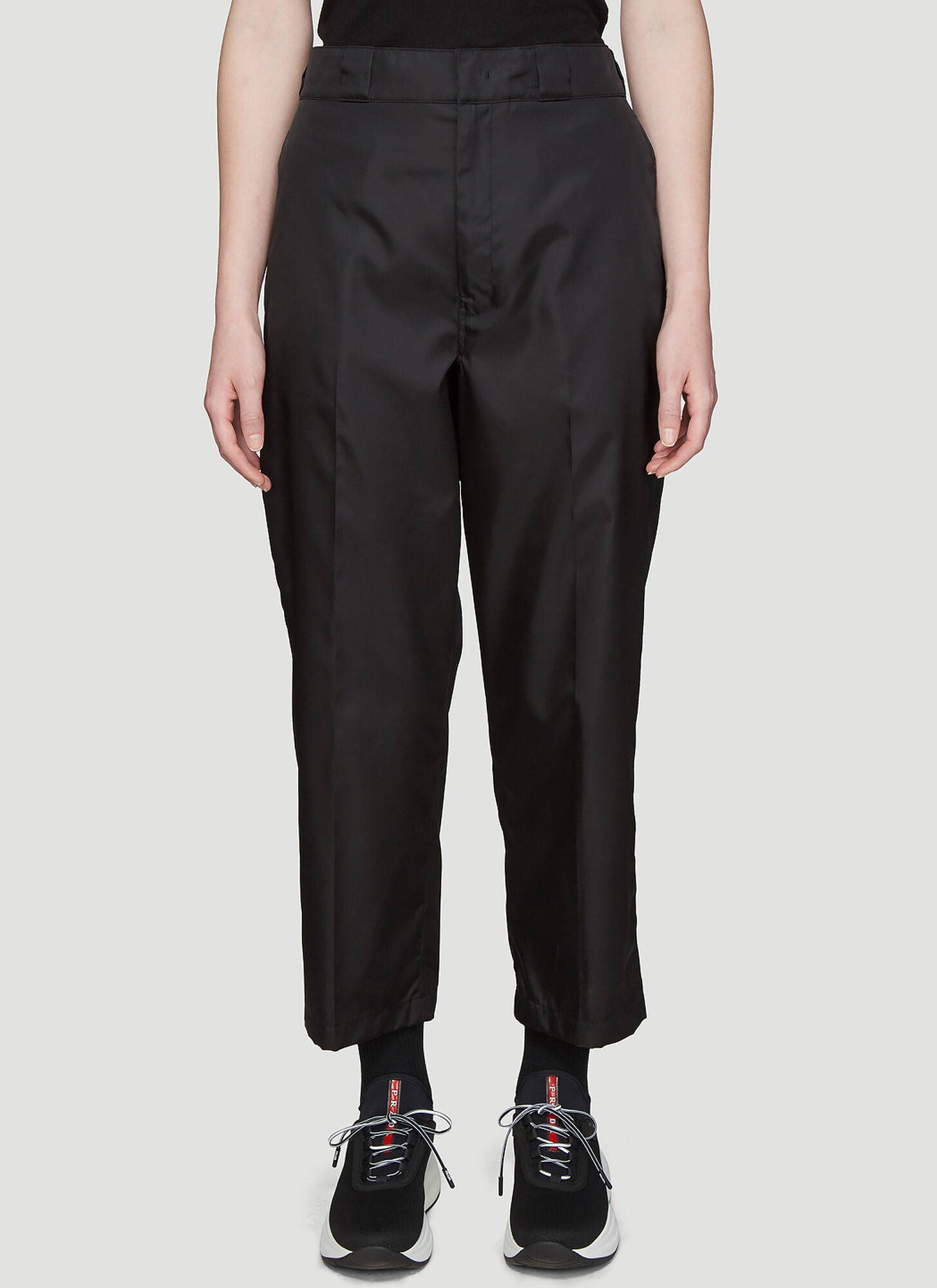 Prada Classic Nylon Pants in Black