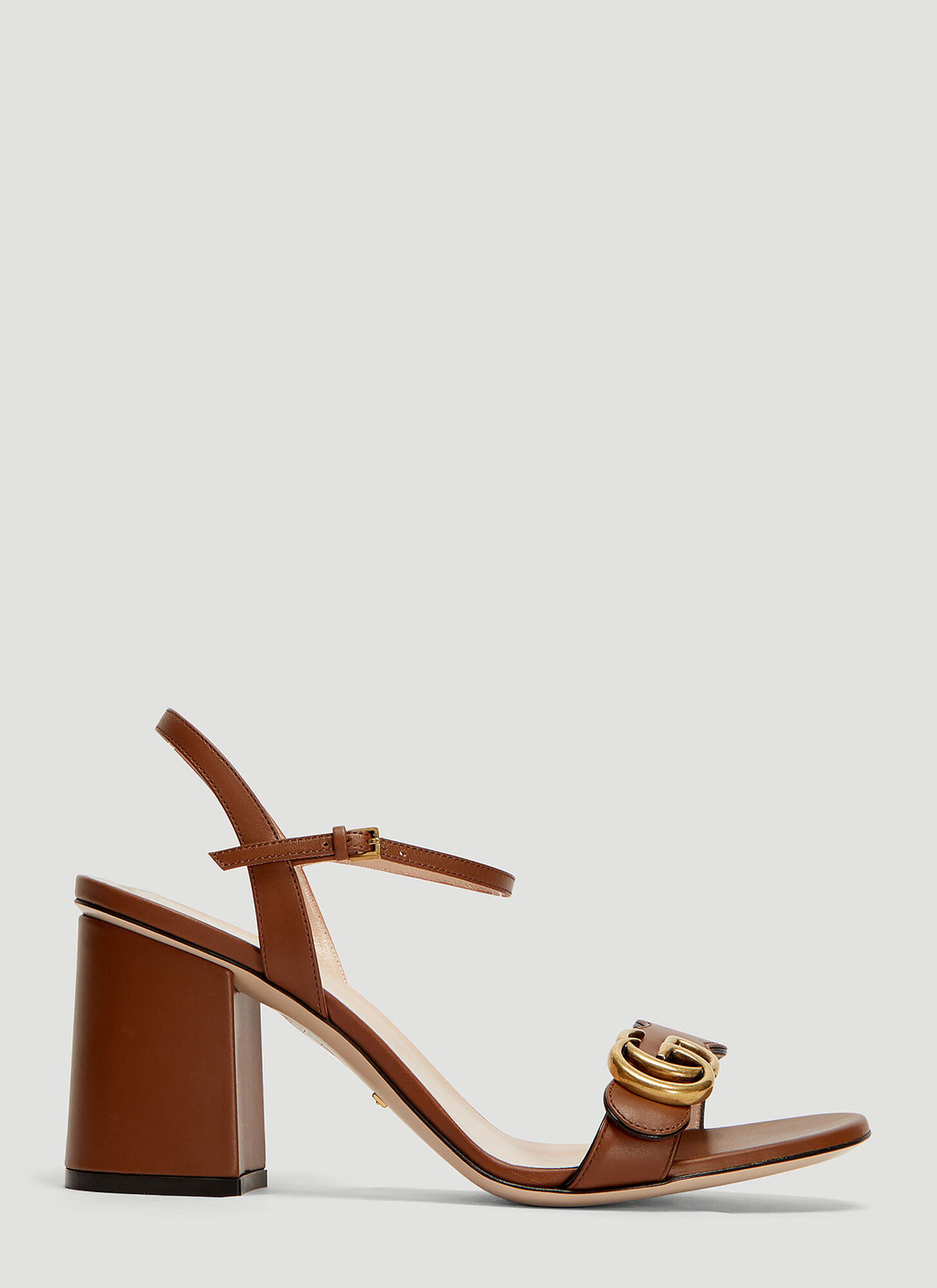 Gucci GG 75 Marmont Sandals in Brown