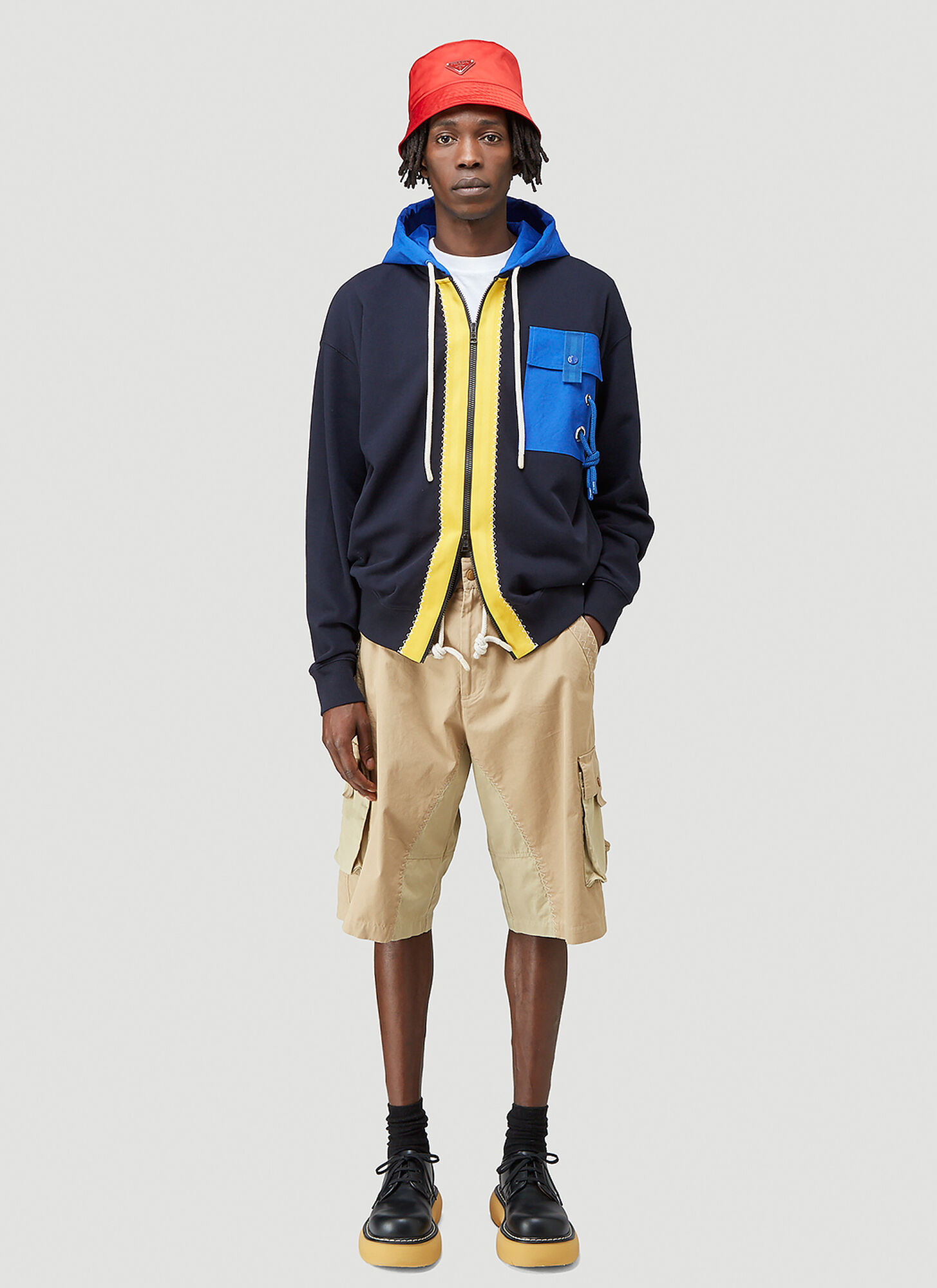 1 Moncler JW Anderson Drawstring Shorts in Beige