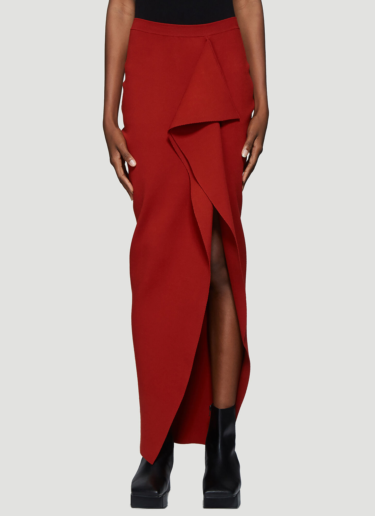 Rick Owens Short Grace Skirt in Red