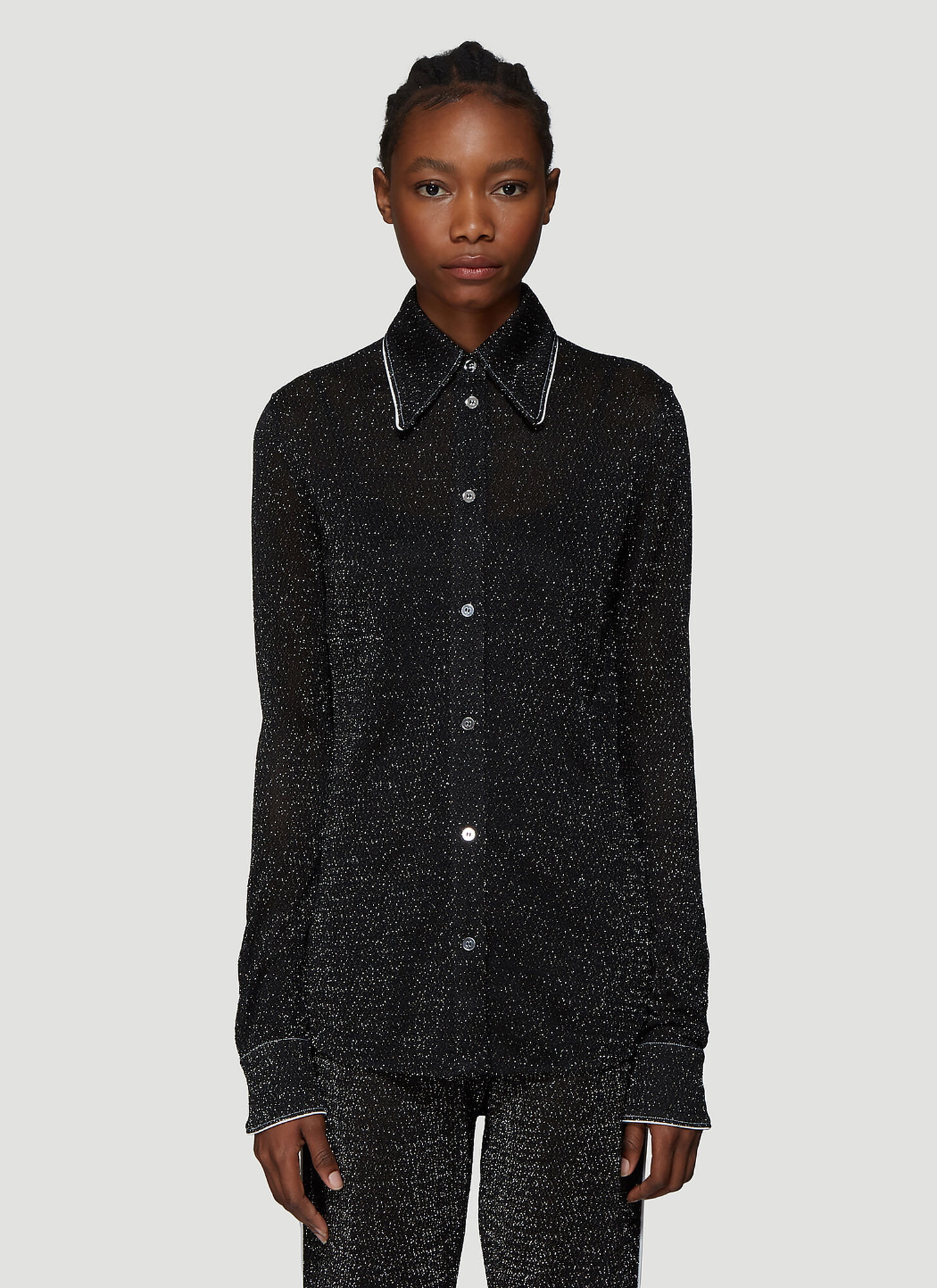 Acne Studios Lurex Shirt in Black