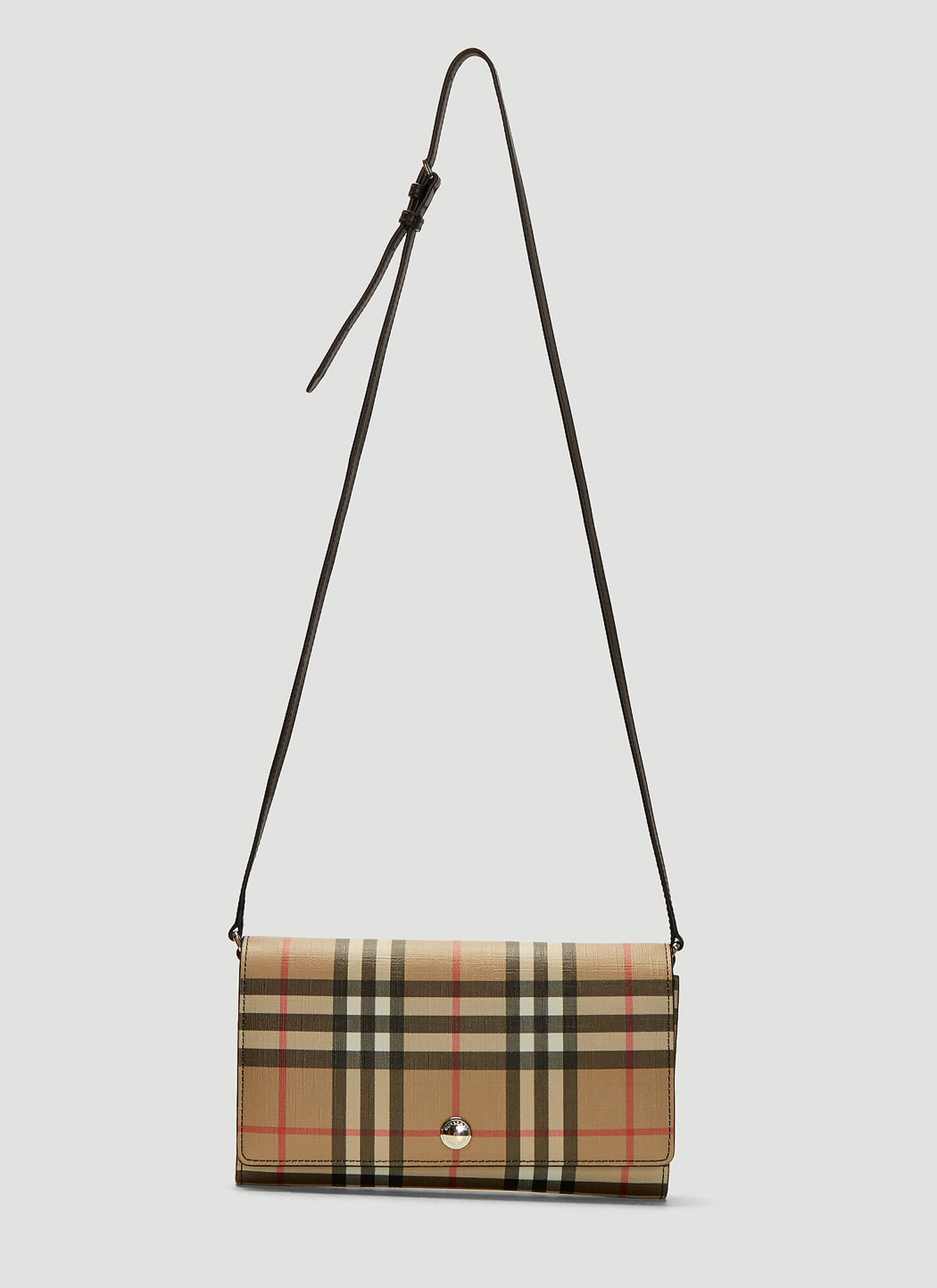 Burberry Vintage Check Canvas Wallet Bag in Beige