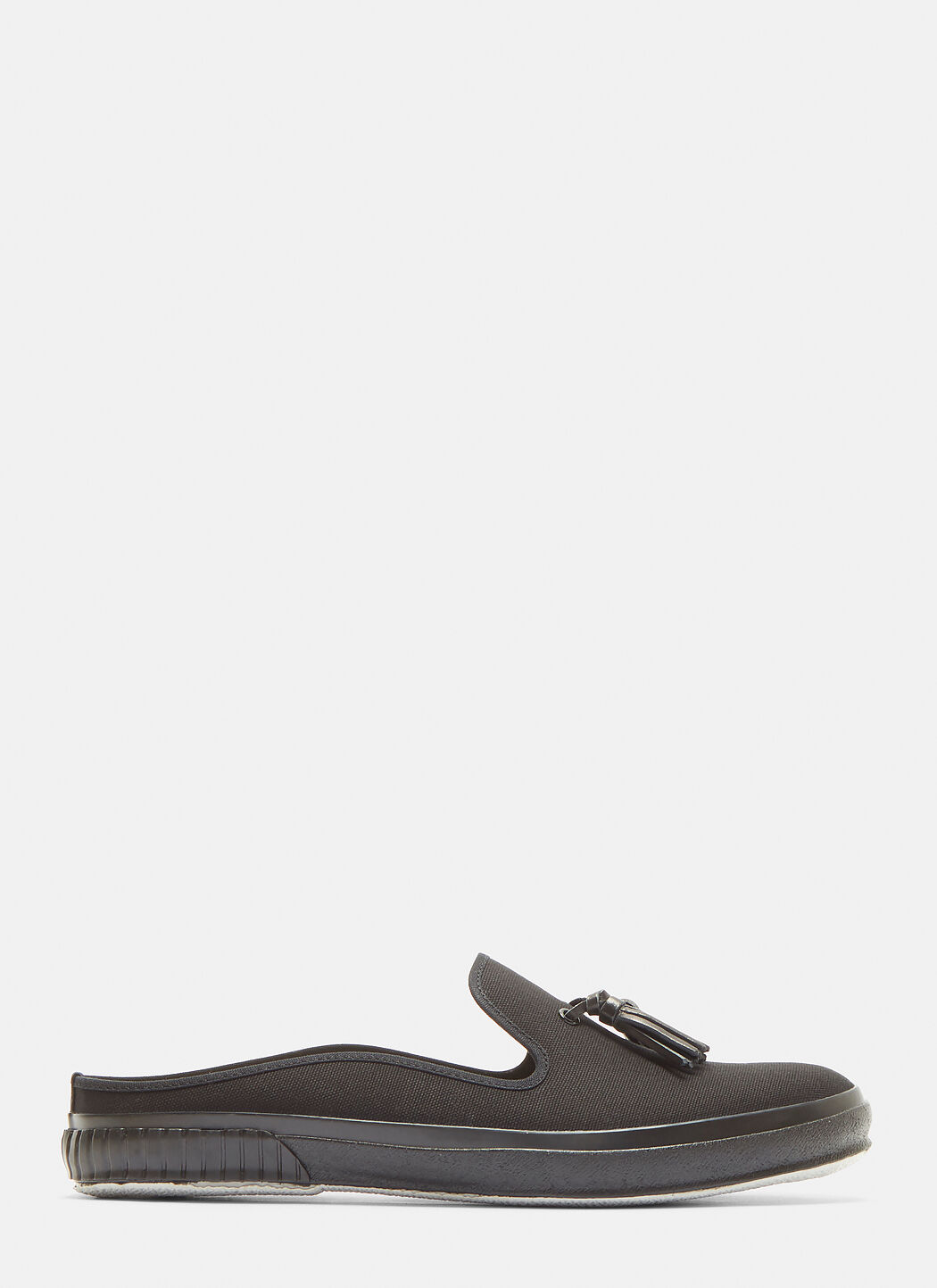 HENDER SCHEME Leather Tassel Plimsoles in Black