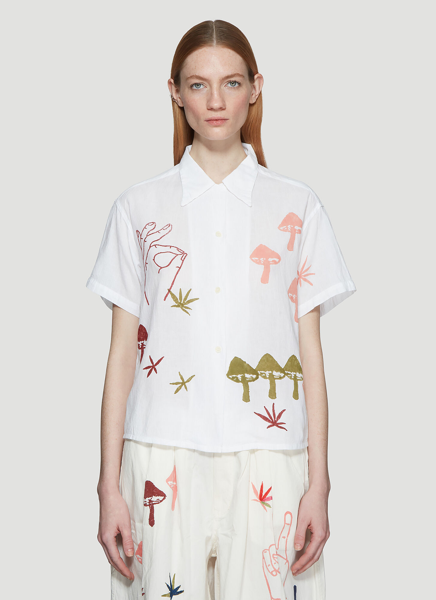 STORY Mfg. Strange Trip Shirt in White