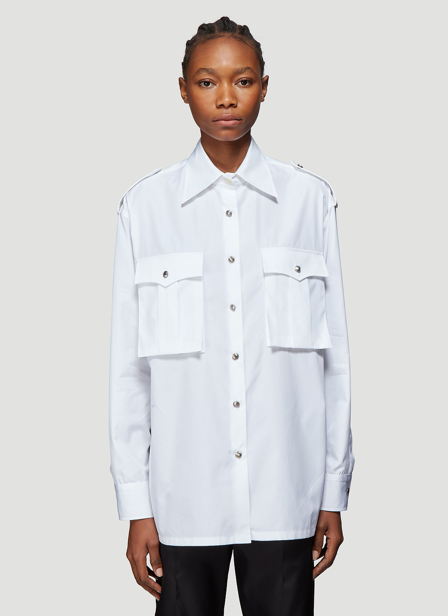 Prada Pocket Shirt in White