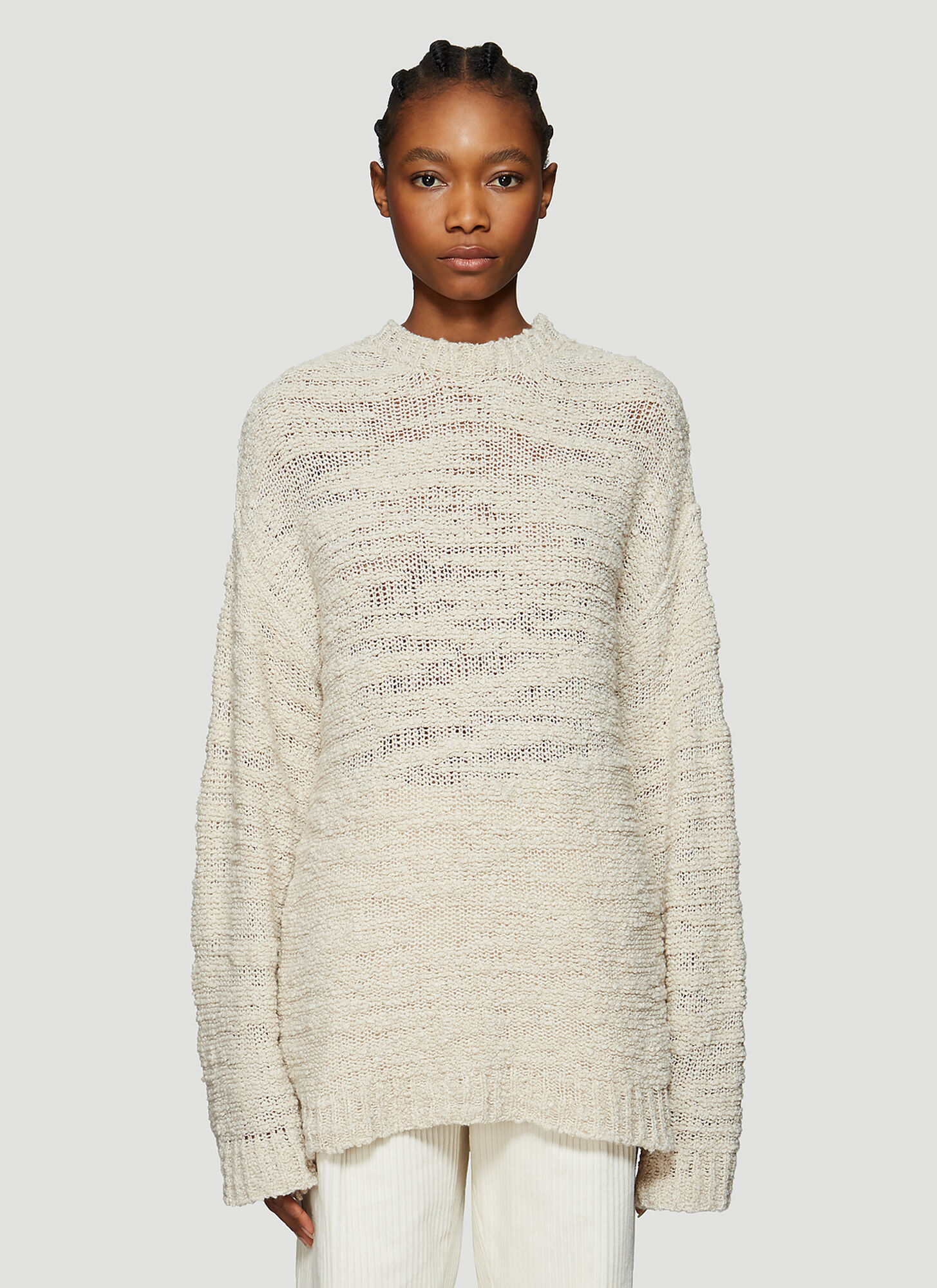 Our Legacy Open Knit Sweater in Beige