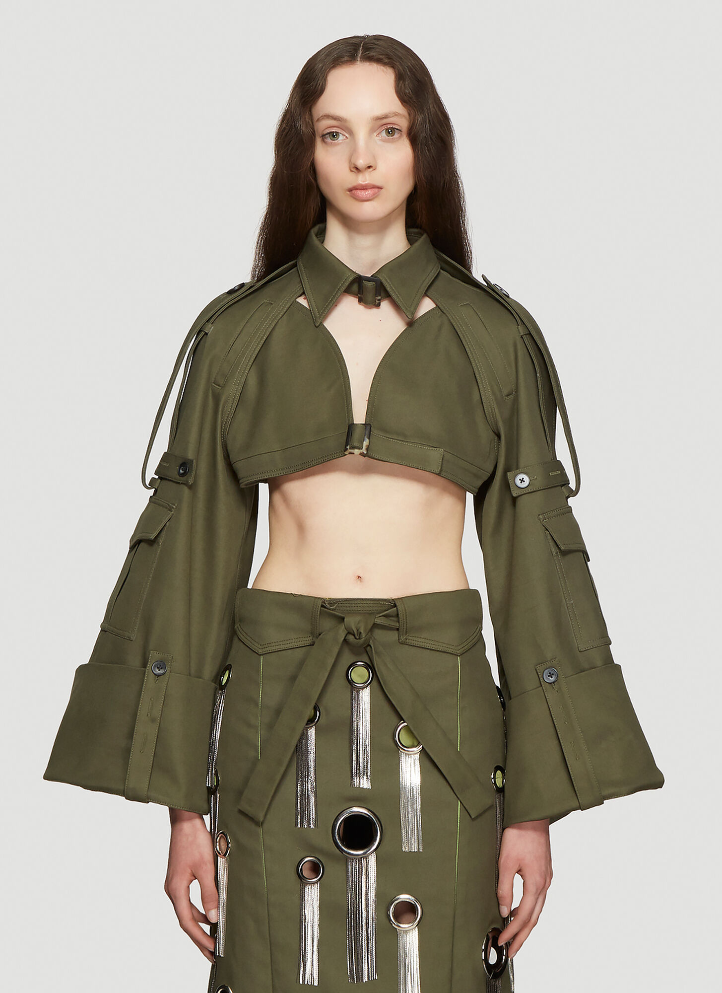 ASAI Cropped Jacket in Green