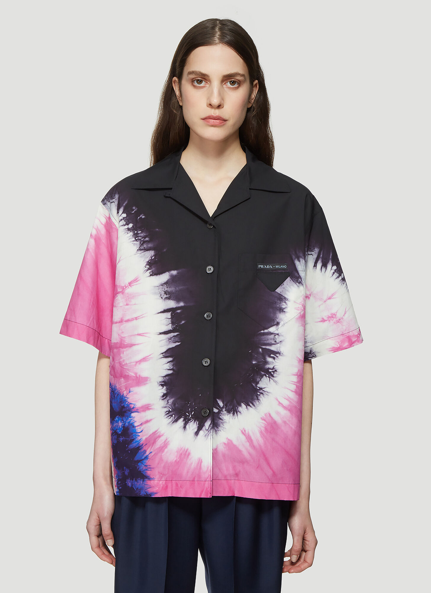 Prada Tie Dye Shirt in Black