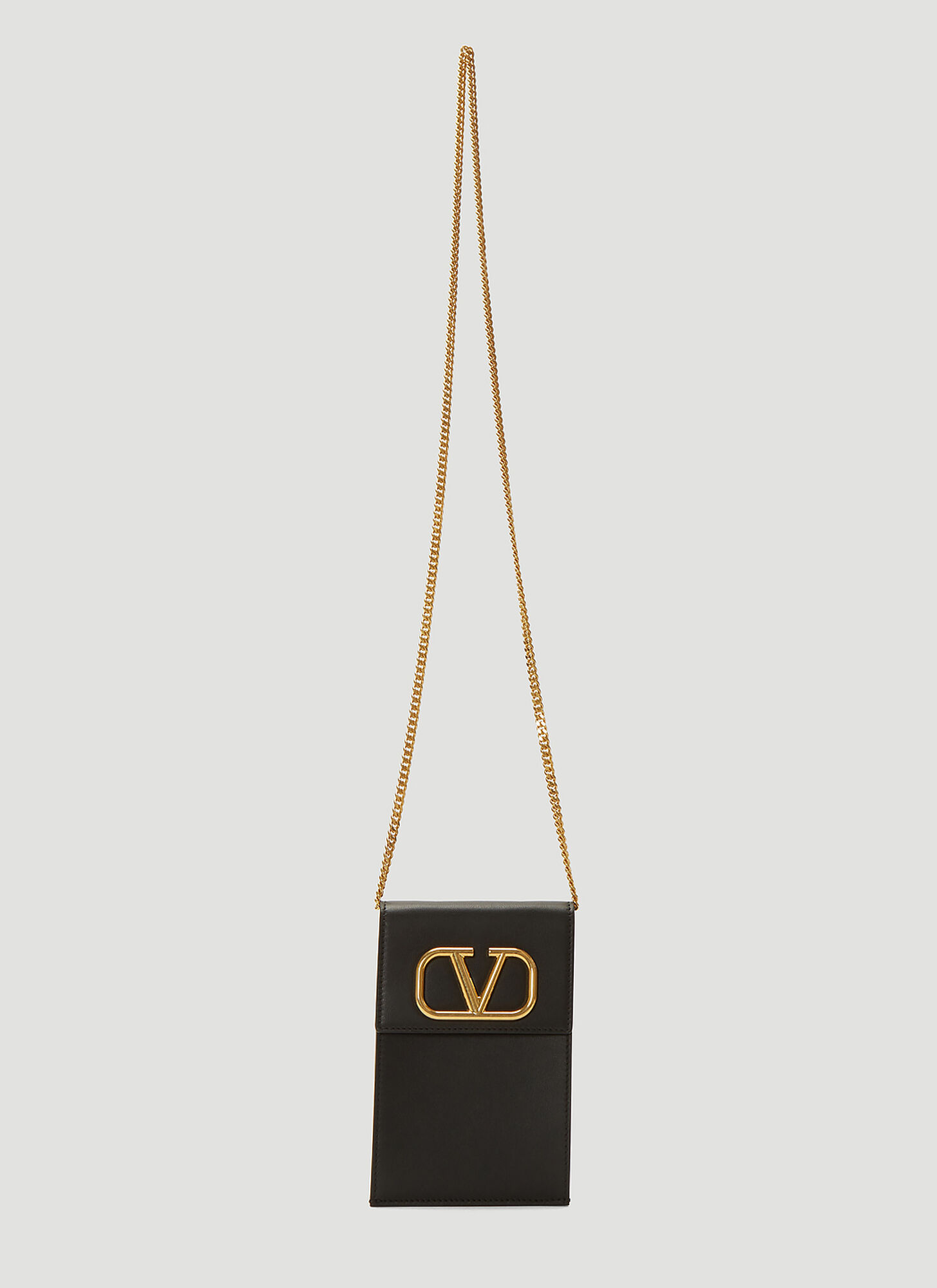 Valentino VLogo Chain Phone Case in Black