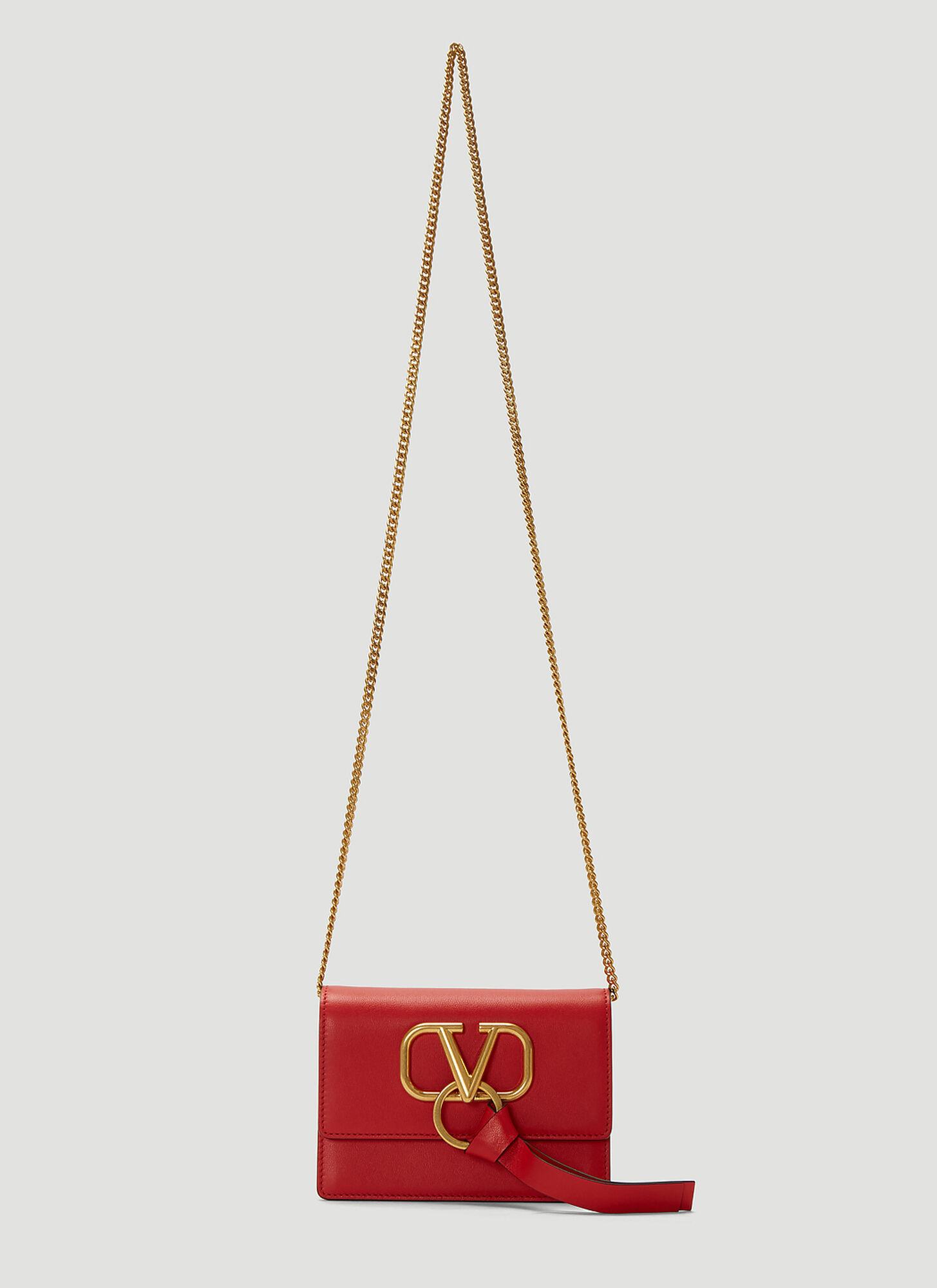 Valentino VRing Chain Bag in Red