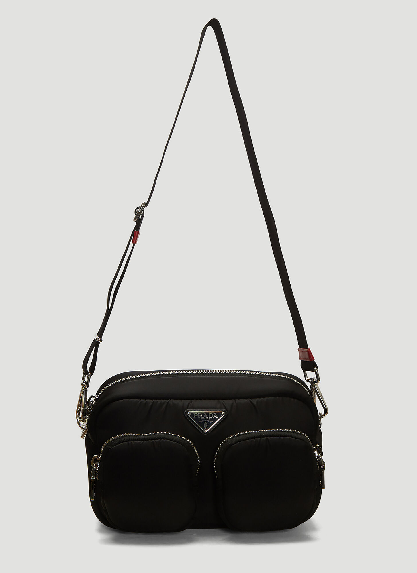 Prada Padded Nylon Shoulder Bag in Black