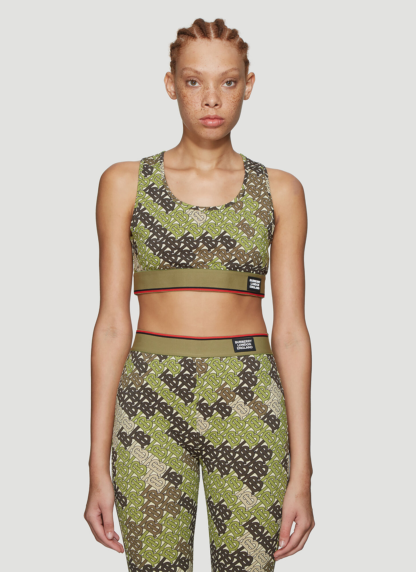 Burberry Monogram Cropped Top in Green