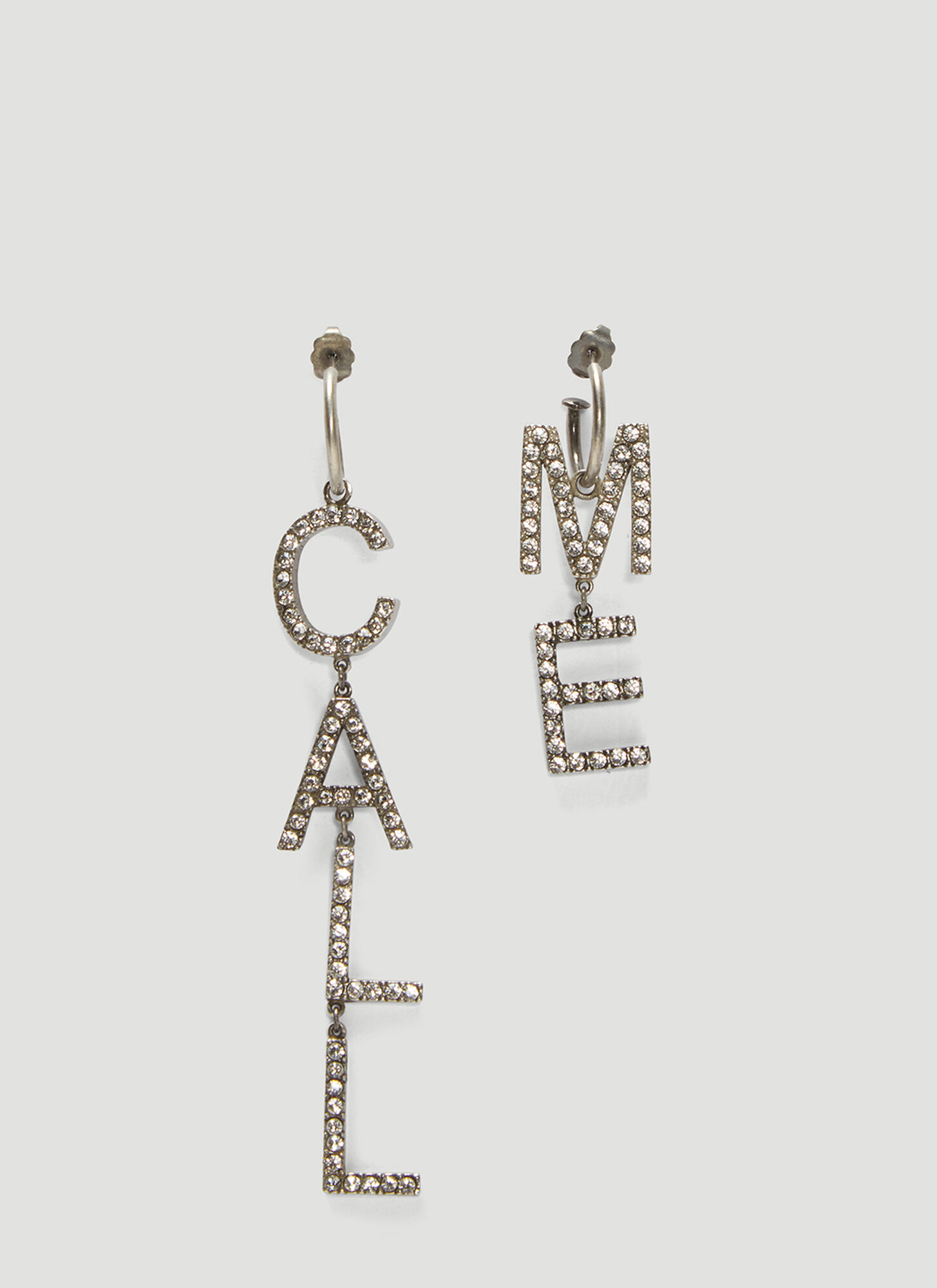 Saint Laurent Call Me Earrings in Silver