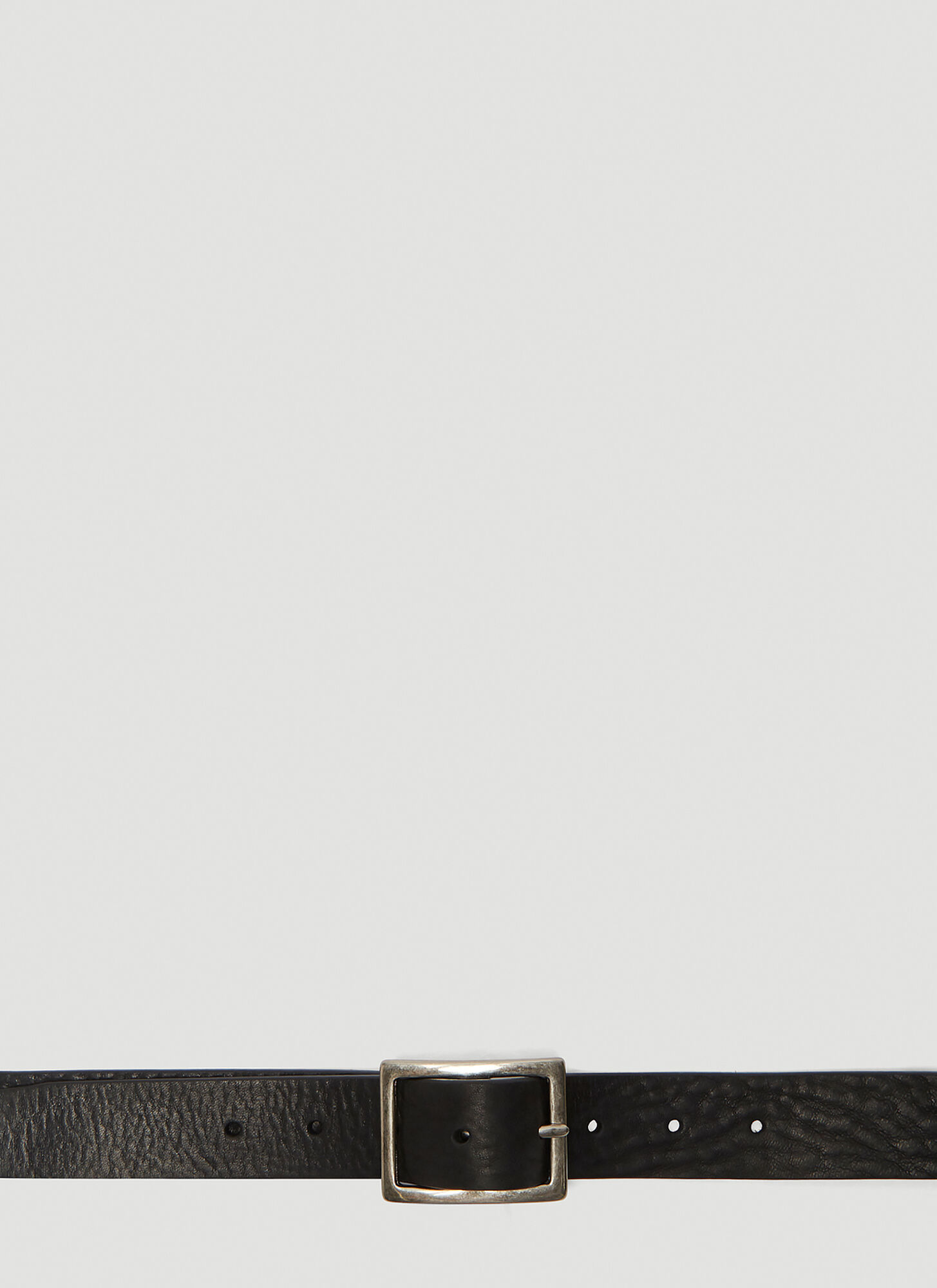 Vetements Leather Belt in Black