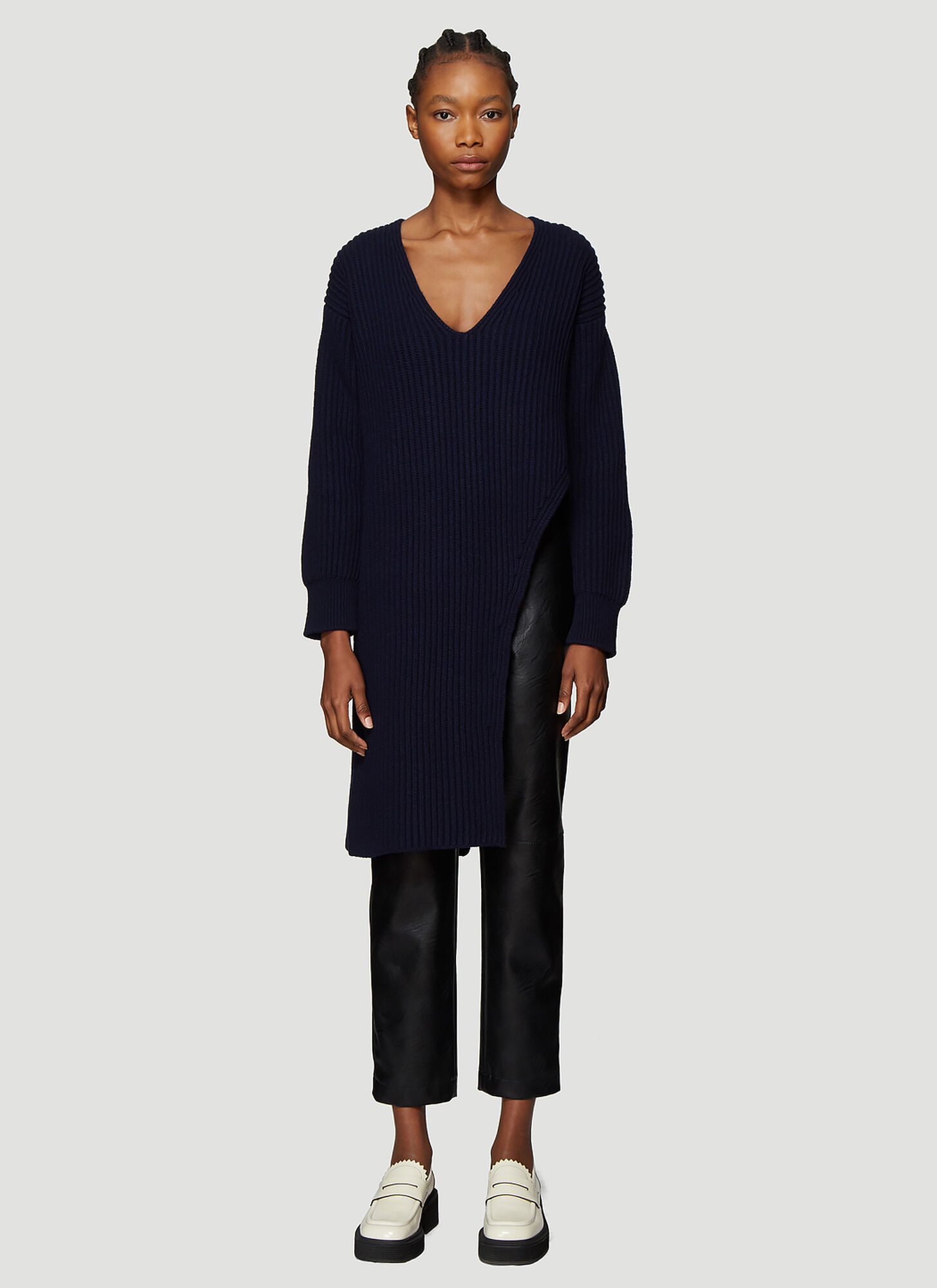 Stella McCartney Longline Asymmetric Sweater in Blue