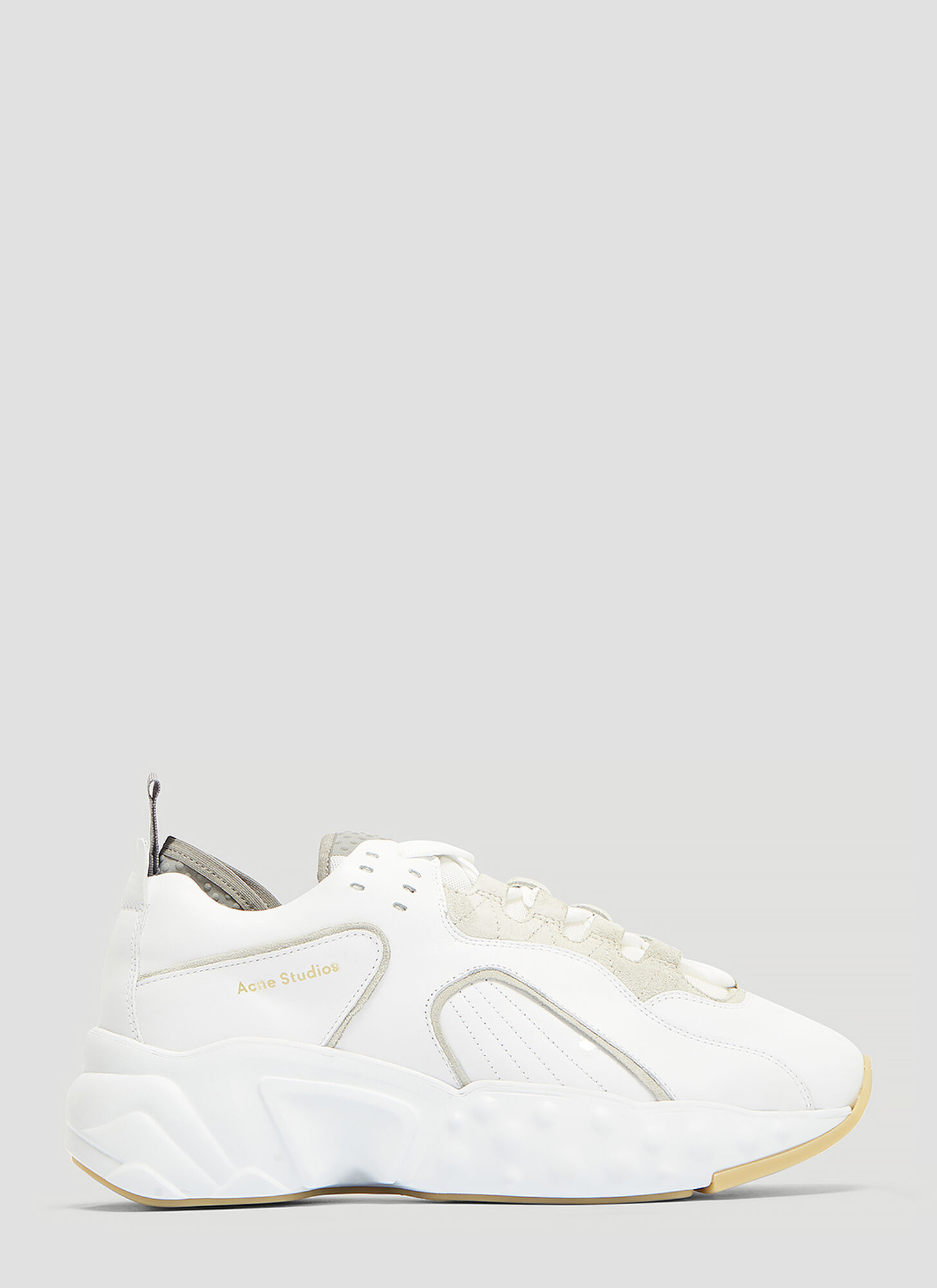 Acne Studios Technical Leather Sneakers in White