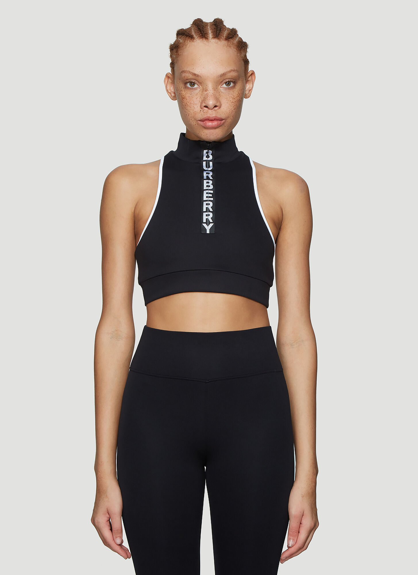 Burberry Cropped Sleeveless Top in Black