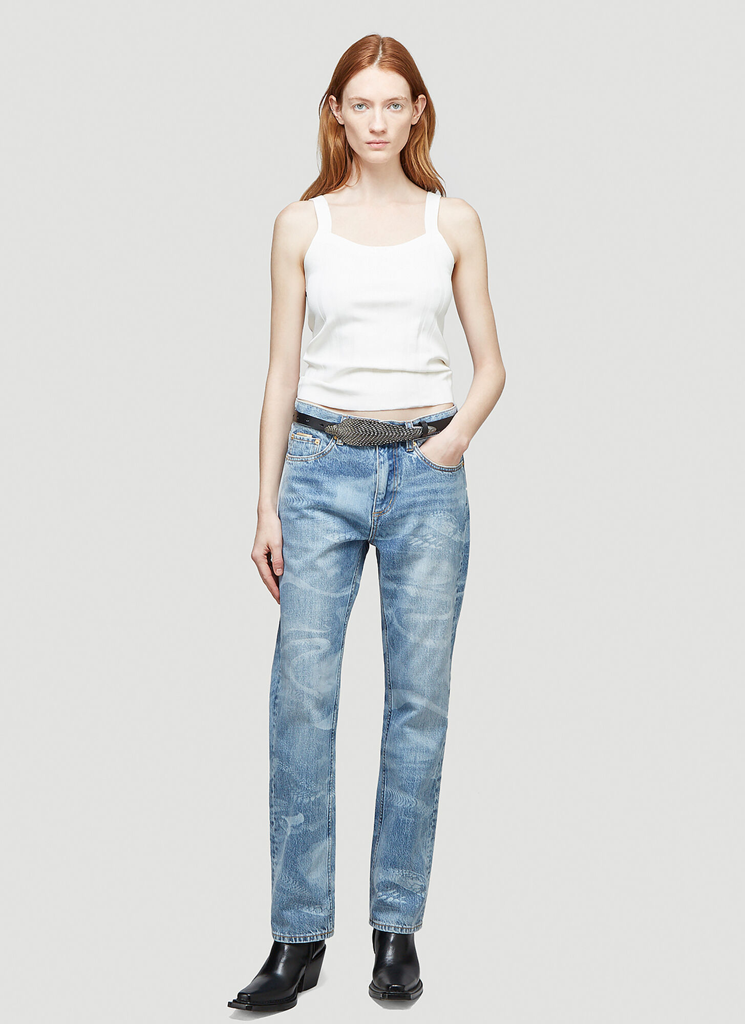 Eytys Cypress Laser Jeans in Blue | LN-CC female Blue 100% Cotton. Dry clean.