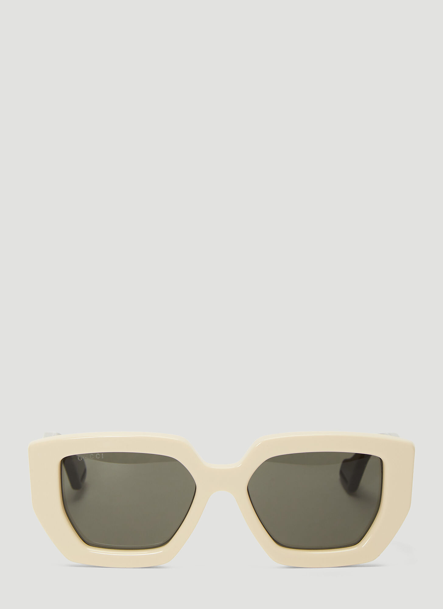 Gucci Square Acetate Sunglasses in White