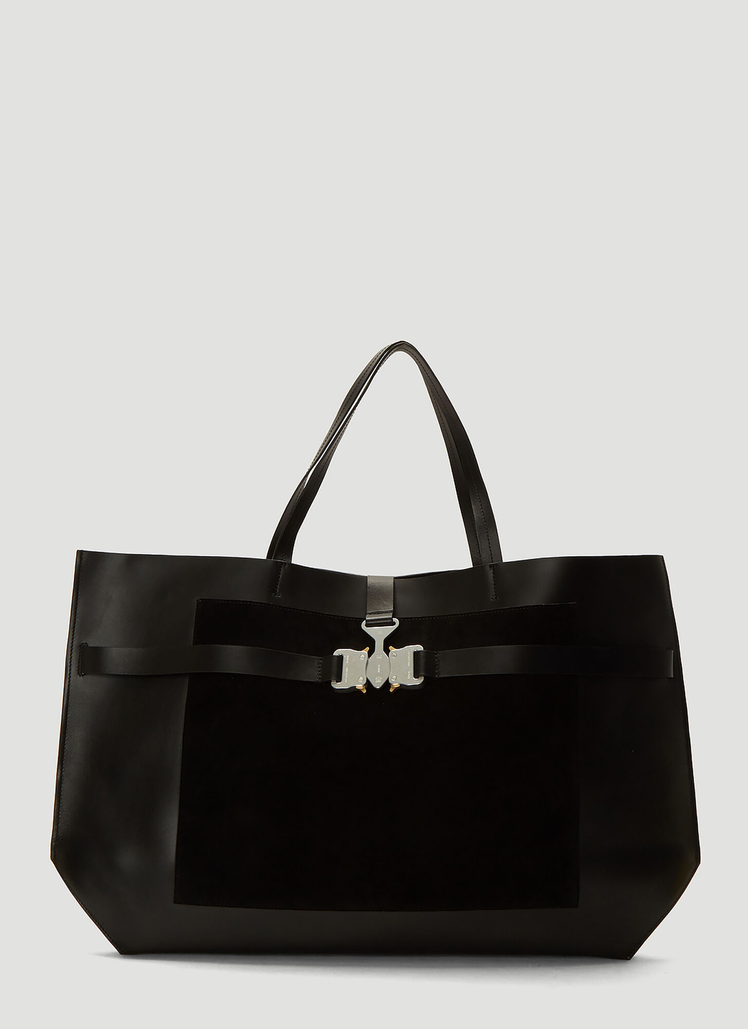 1017 ALYX 9SM Tri-Buckle Tote Bag in Black