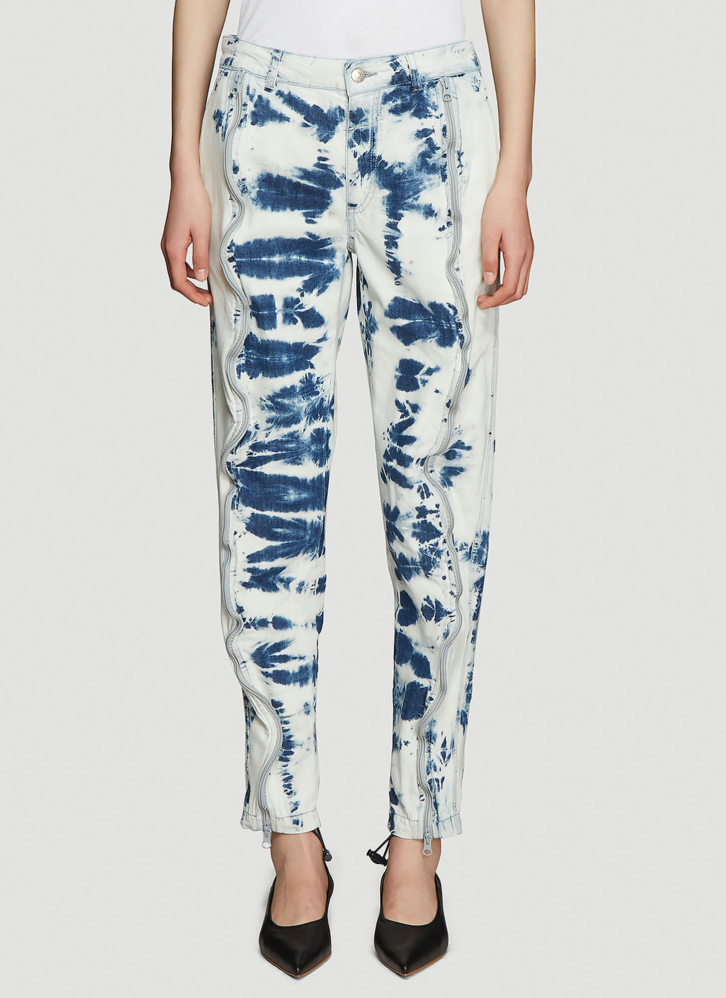 Photo of Stella McCartney Tie-Dyed Jeans in Blue - Stella McCartney Jeans