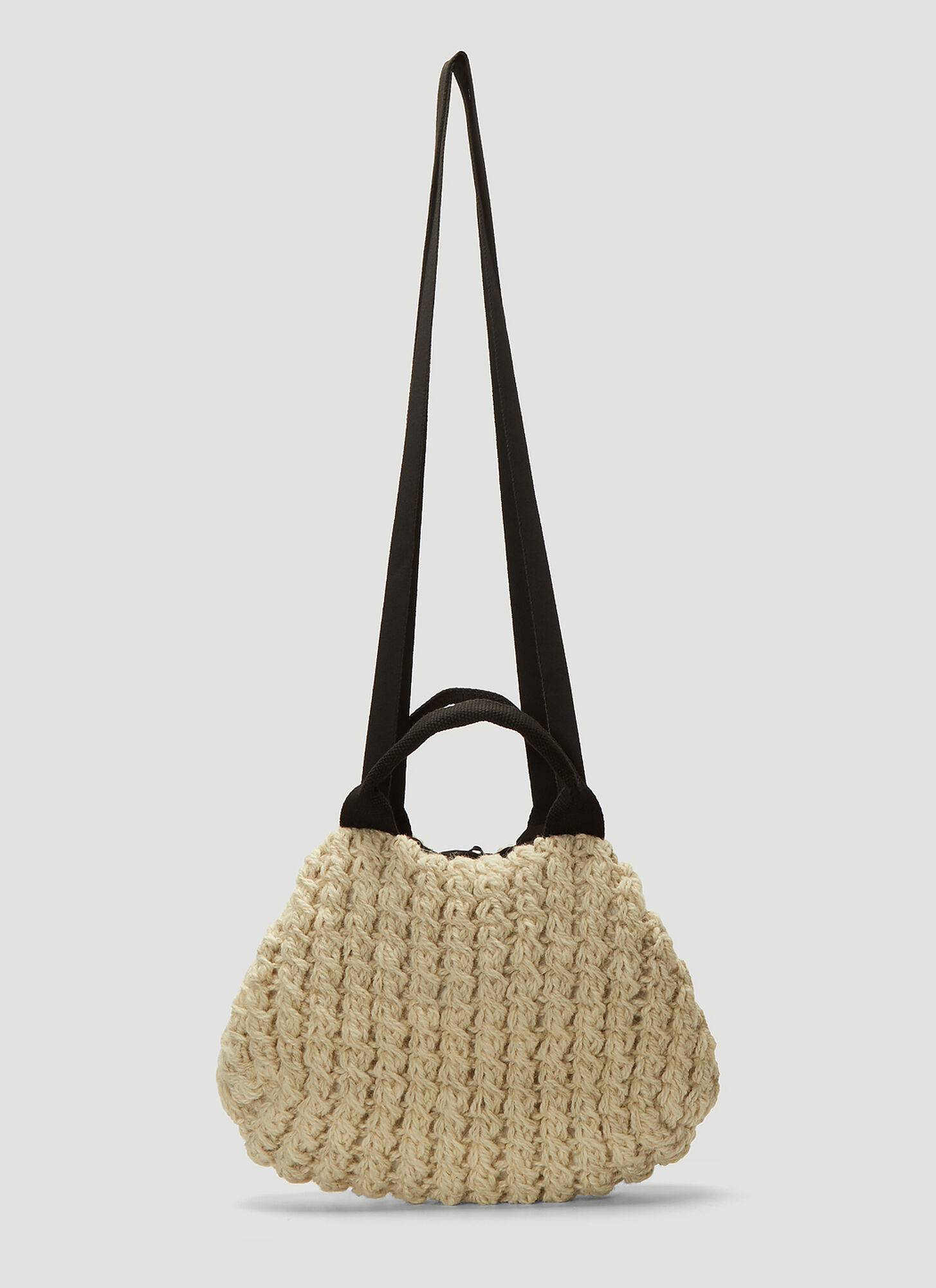 Muun Mini Ivar Knit Weave Bag in Beige