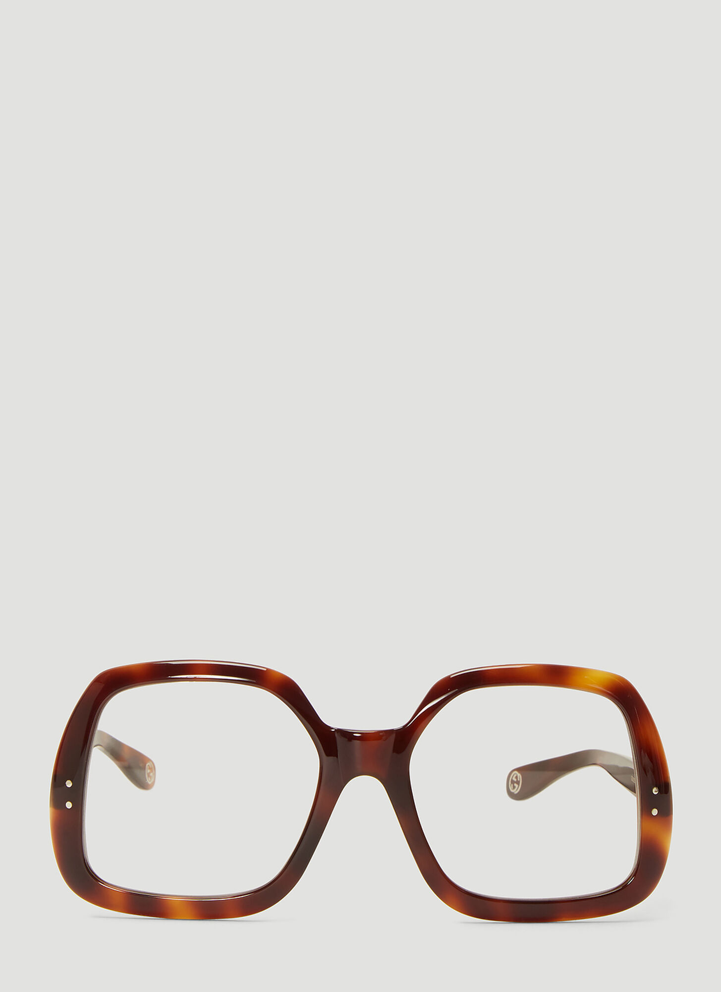 Gucci Square Acetate Sunglasses in Brown