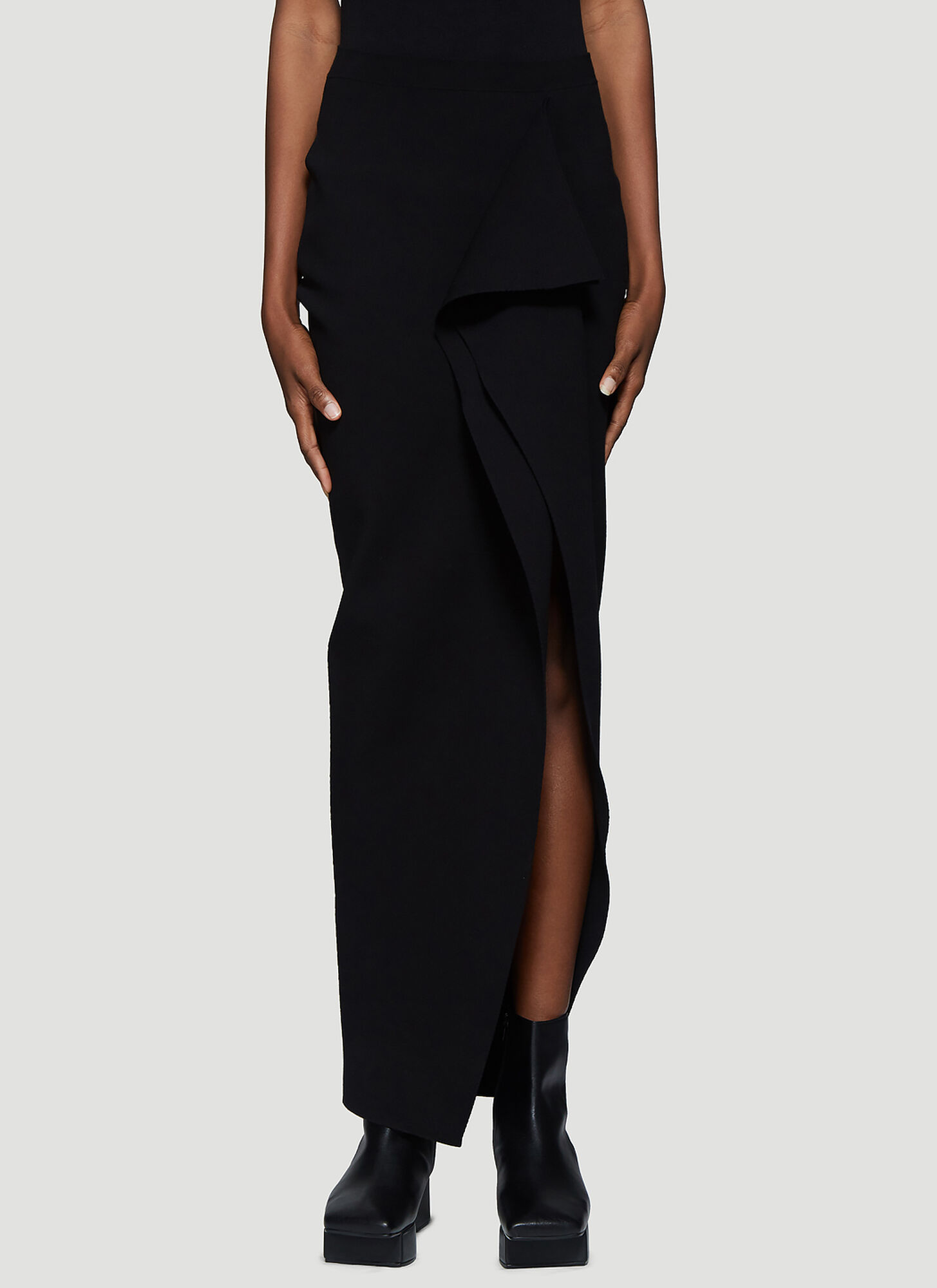 Rick Owens Short Grace Skirt in Black