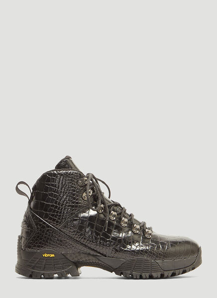 Alyx CROCODILE HIKING BOOTS IN BLACK