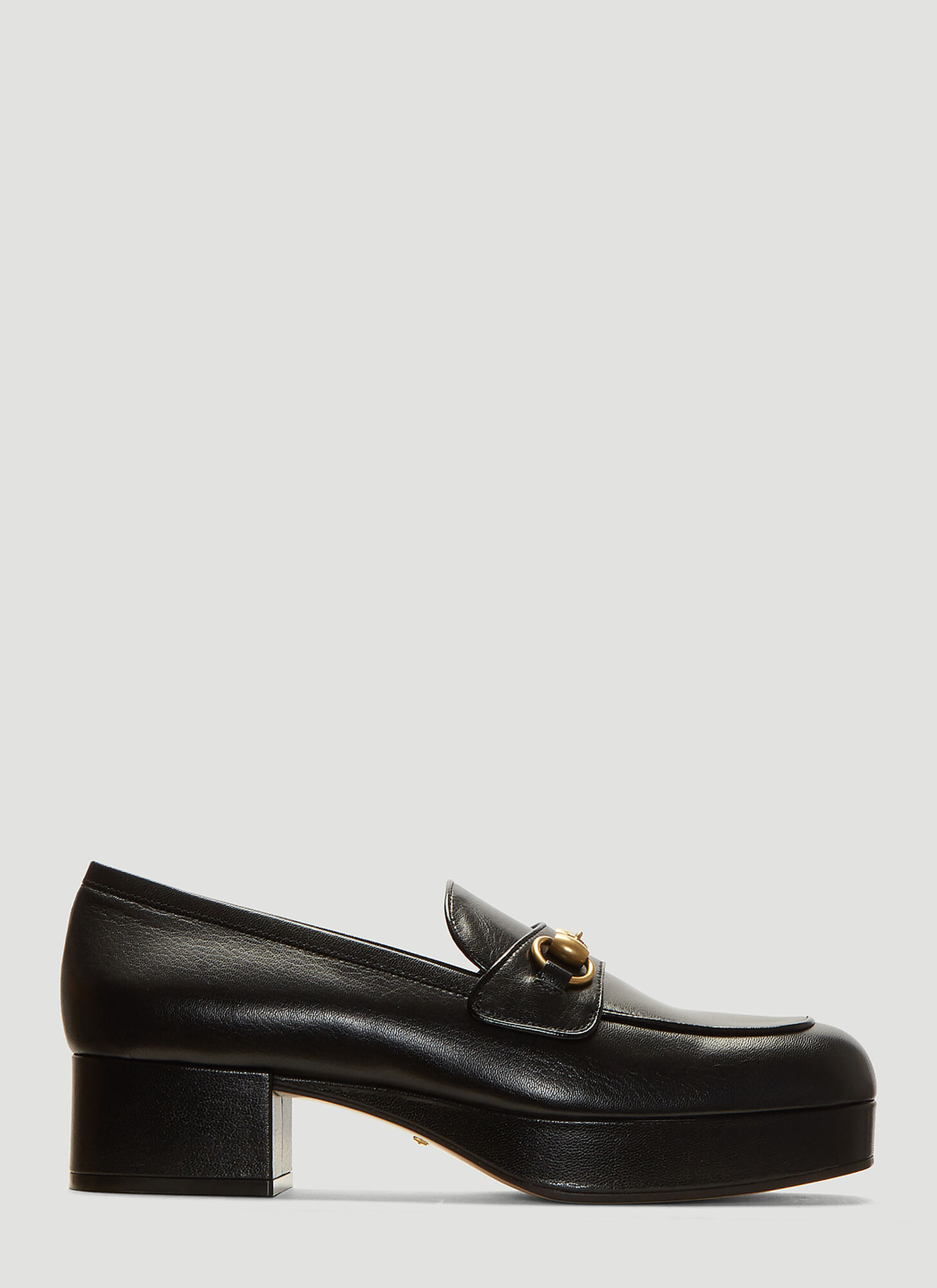 Gucci Platform Horsebit Loafers in Black