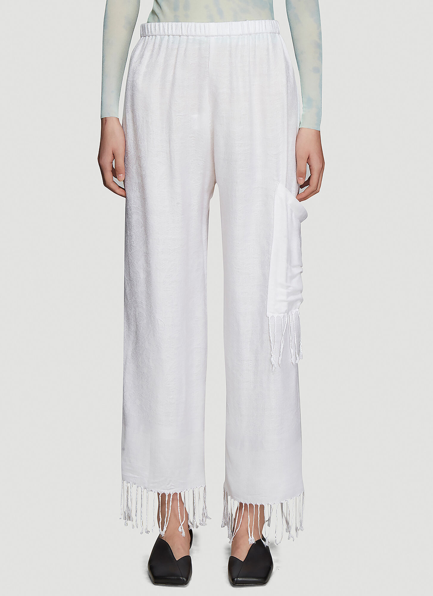 Collina Strada Pashmina Pants in White