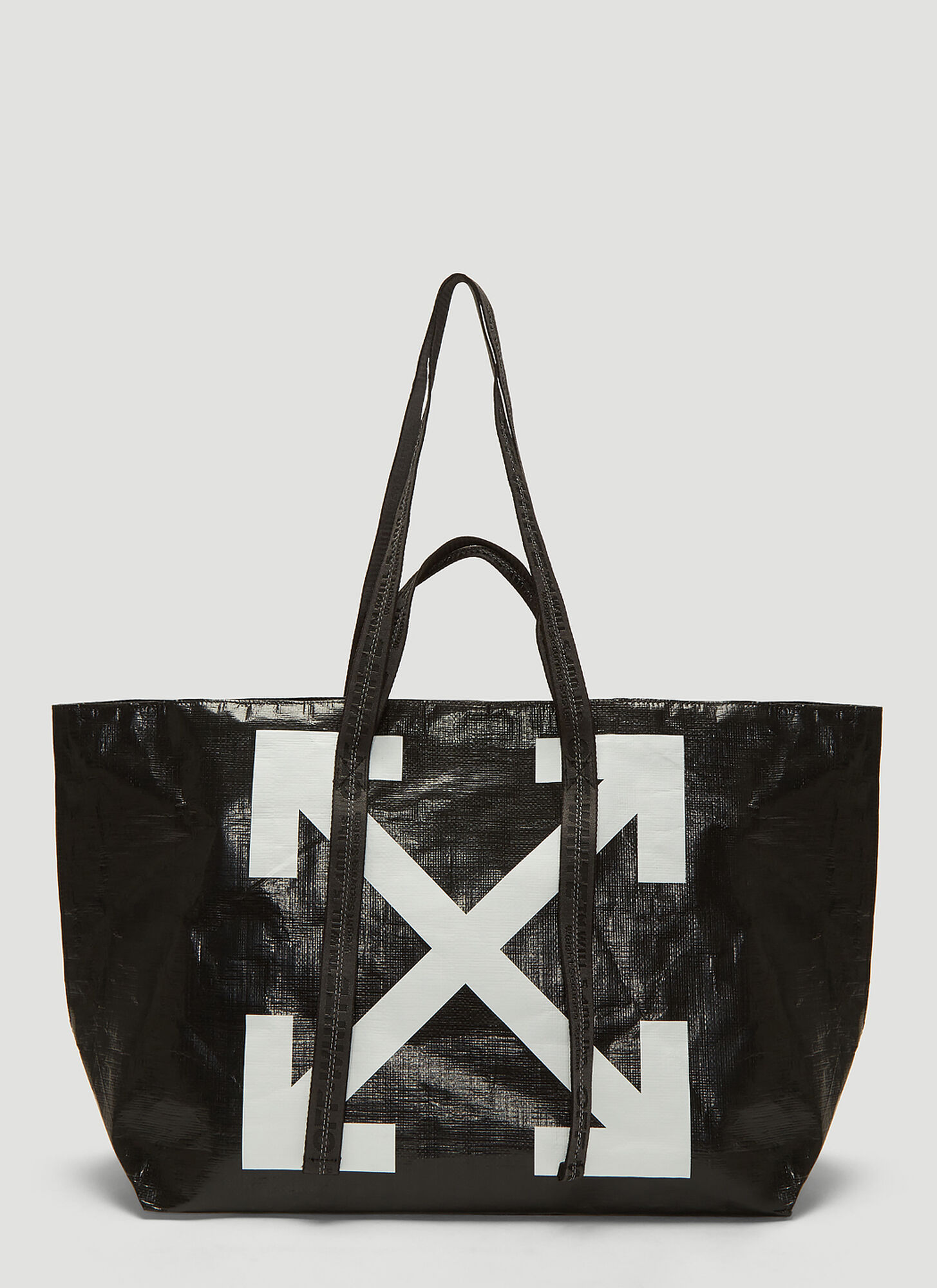 Off-White Commercial Arrow Tote Bag in Black