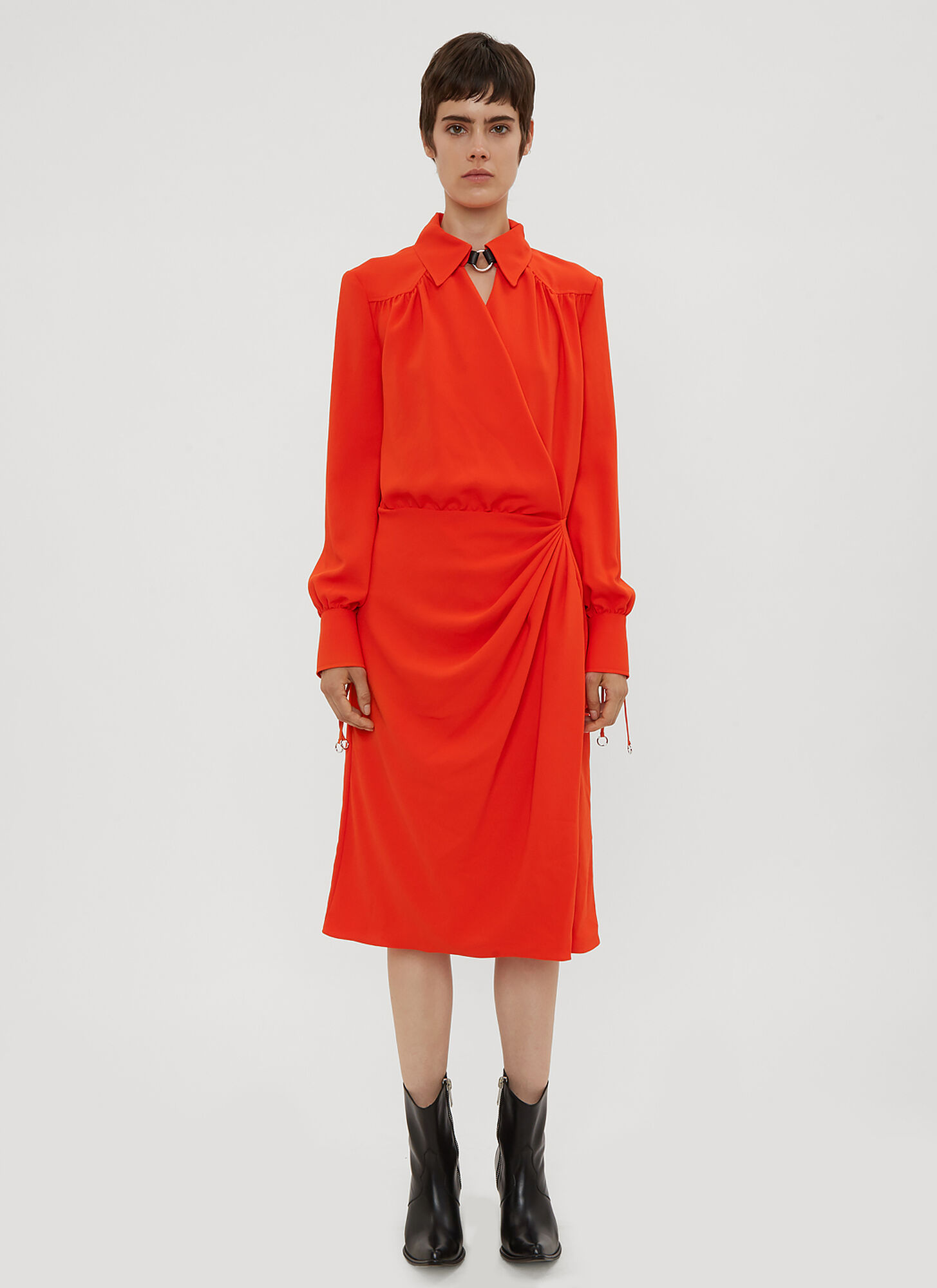 Altuzarra Kat Drape Dress in Orange