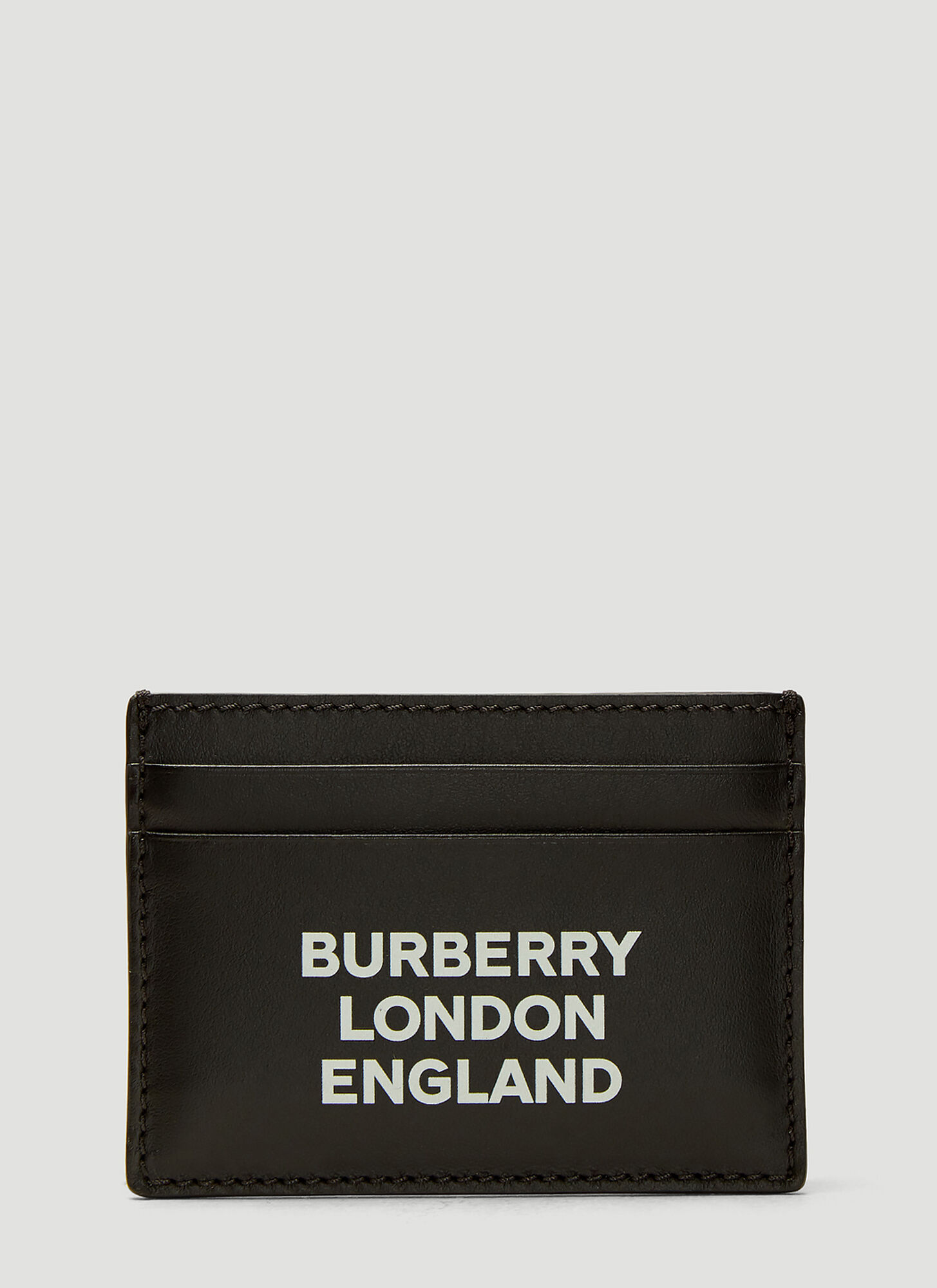 Burberry Logo Print Card Holder in Black size One Size