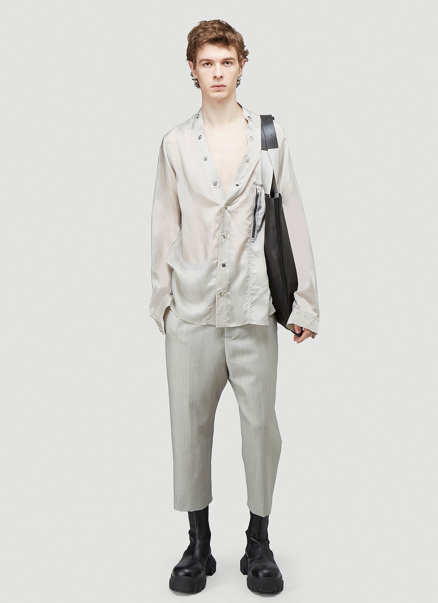 Rick Owens Larry Shirt in Grey